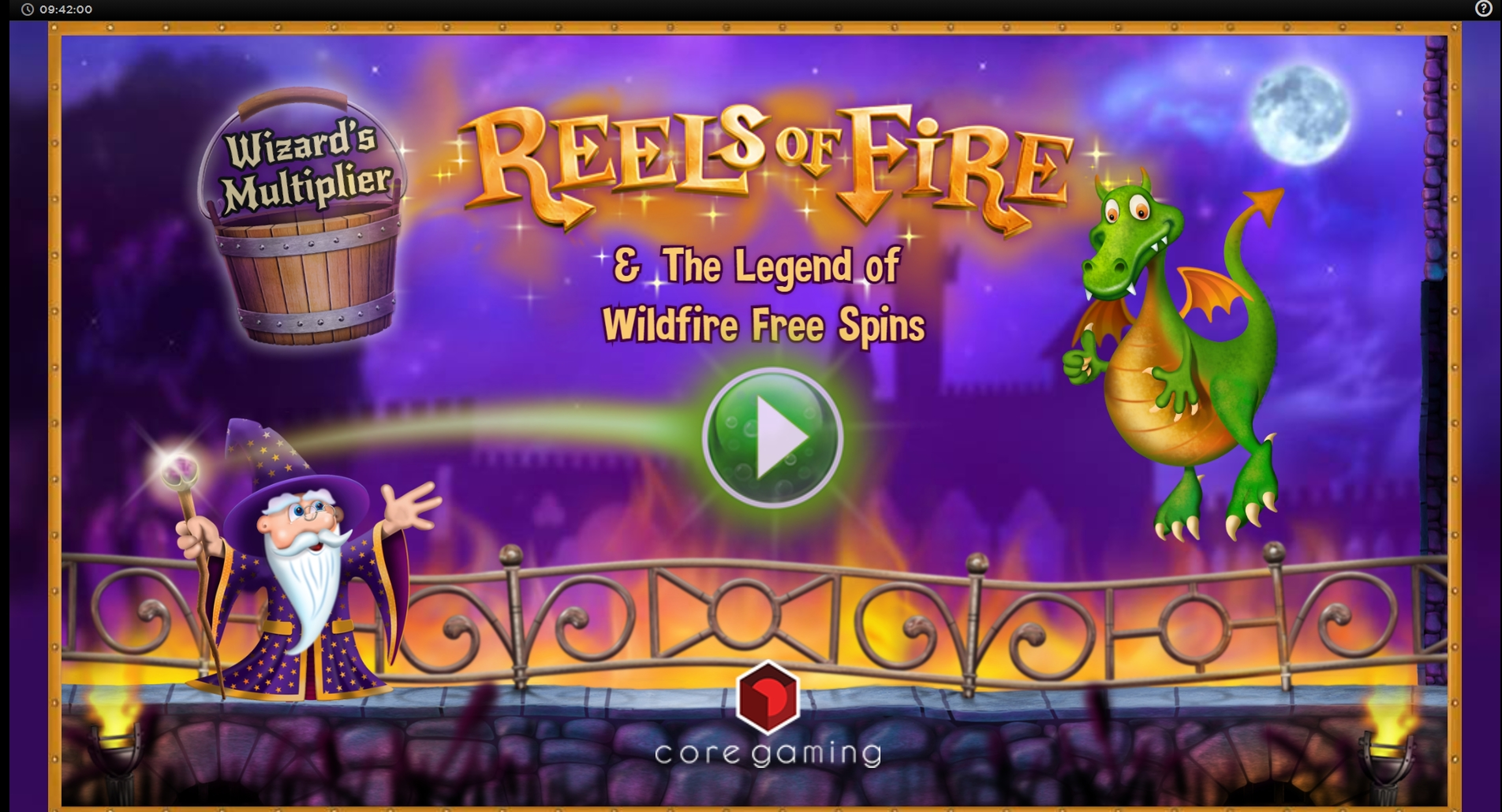 Play Reels of Fire Free Casino Slot Game by CORE Gaming