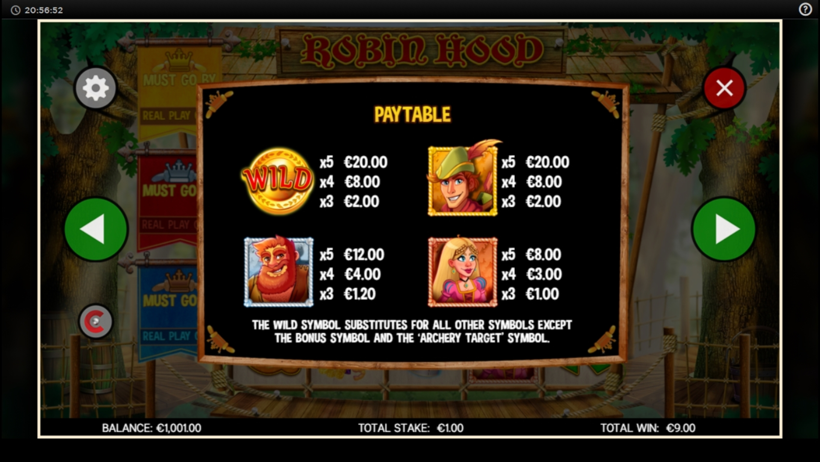 Info of Robin Hood (CORE Gaming) Slot Game by CORE Gaming