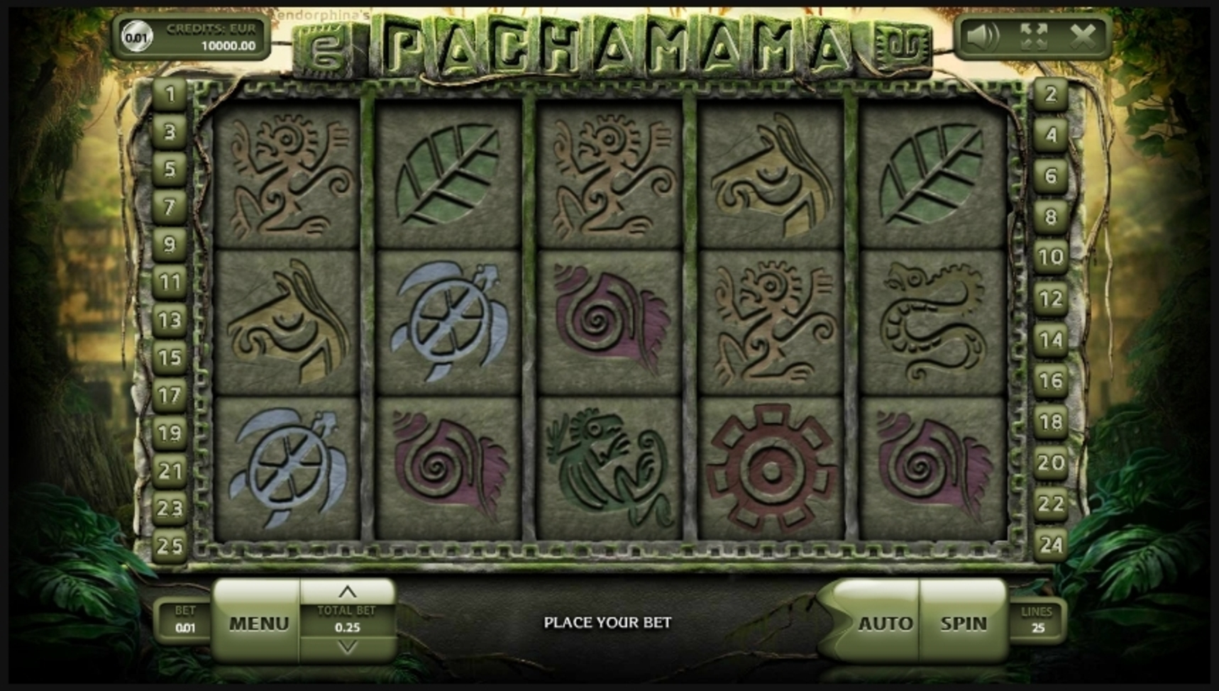 Reels in Pachamama Slot Game by Endorphina