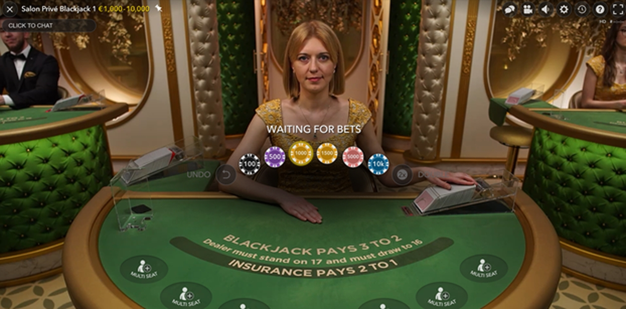 The Salon Prive Blackjack 3	 Online Slot Demo Game by Evolution Gaming