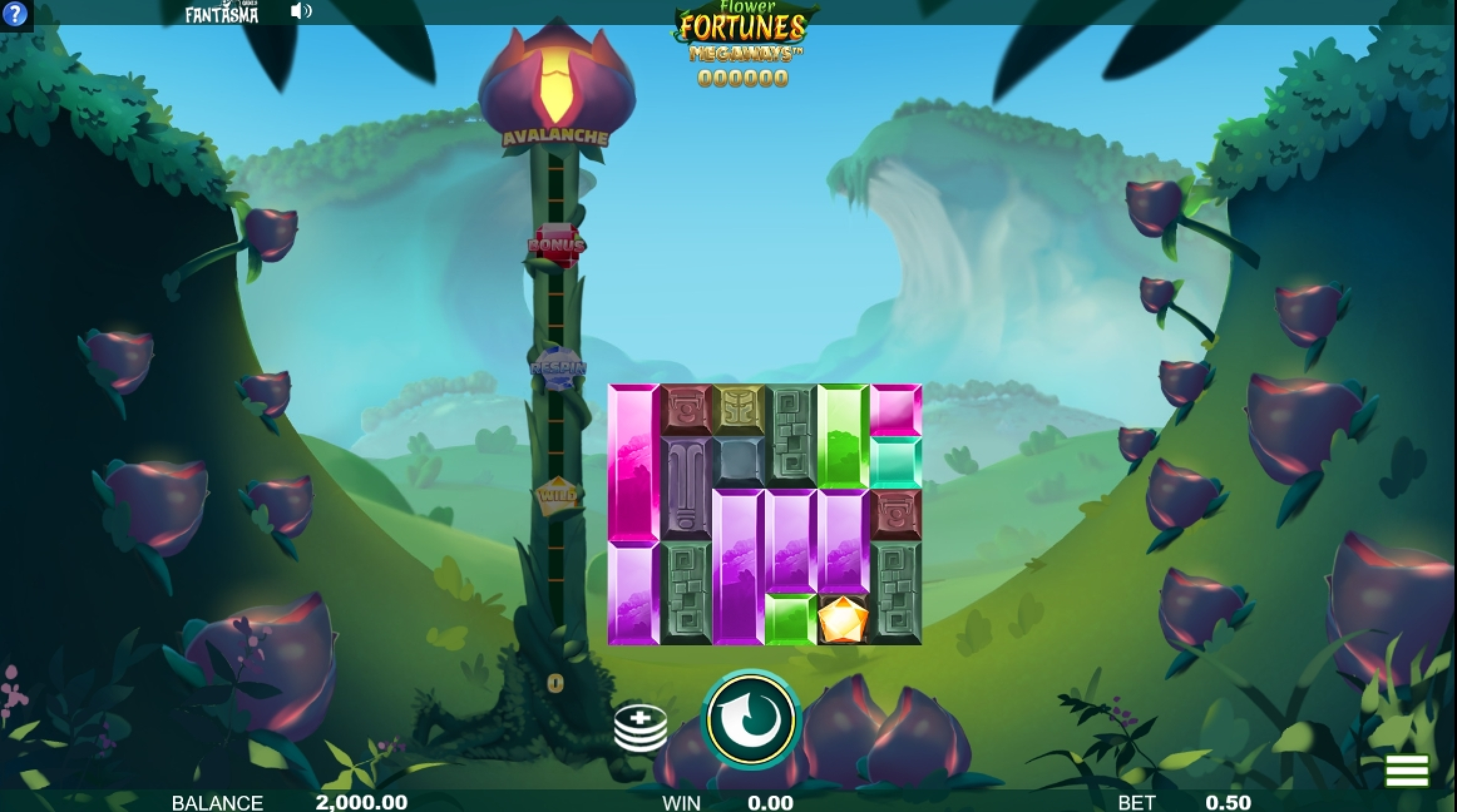 Reels in Flower Fortunes Slot Game by Fantasma Games