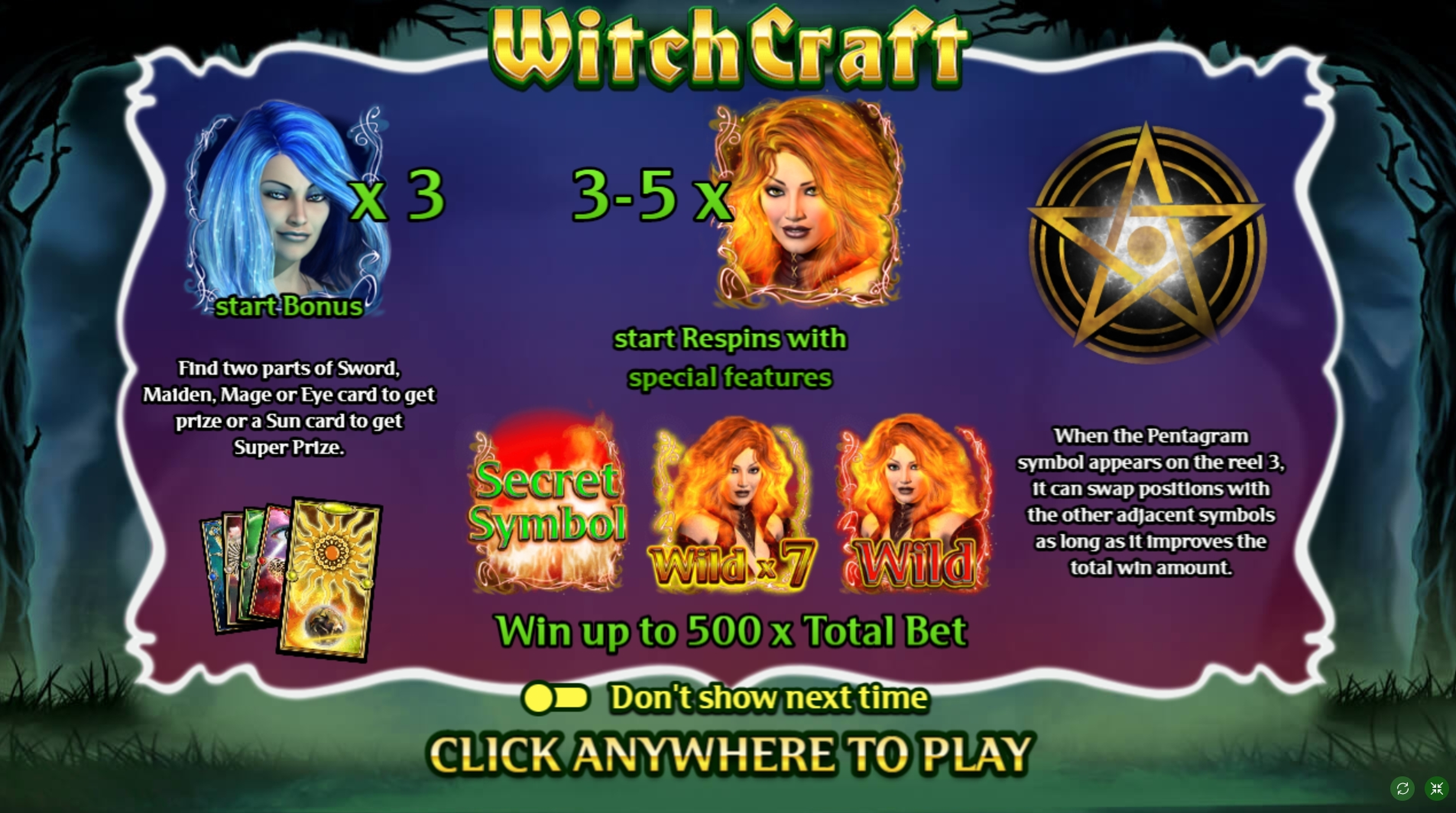 Play WitchCraft Free Casino Slot Game by FUGA Gaming