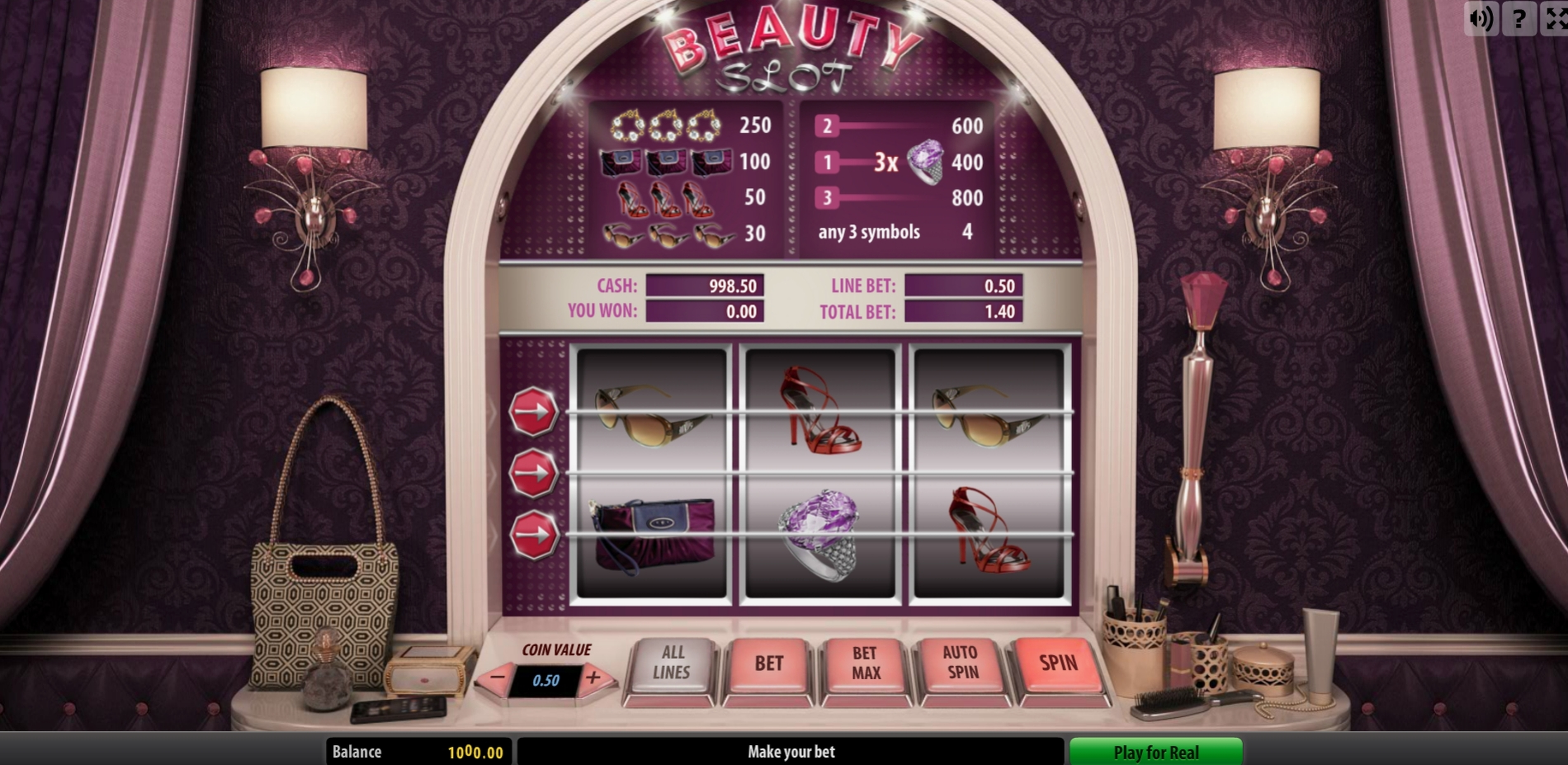 Reels in Beauty Slot Slot Game by Fugaso