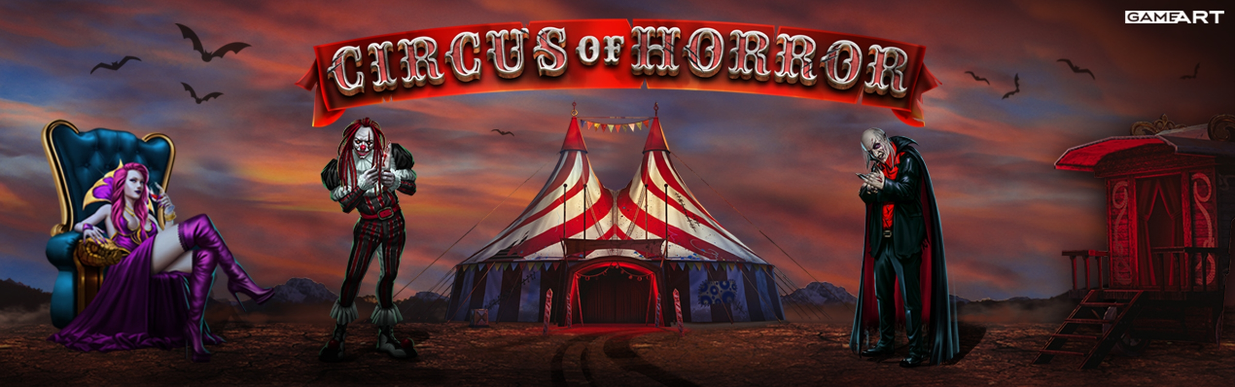 The Circus of Horror Online Slot Demo Game by GameArt