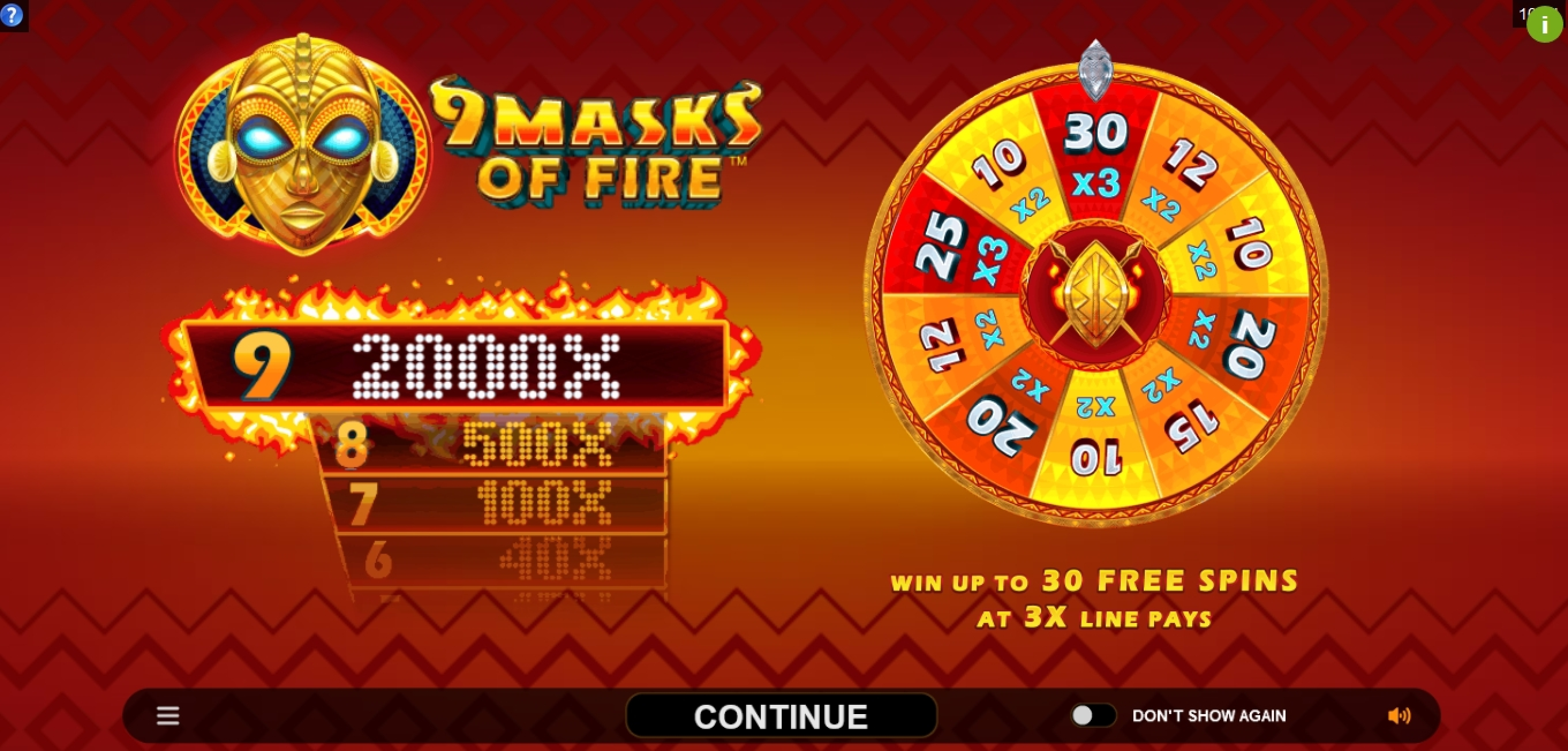 Play 9 Masks Of Fire Free Casino Slot Game by Gameburger Studios