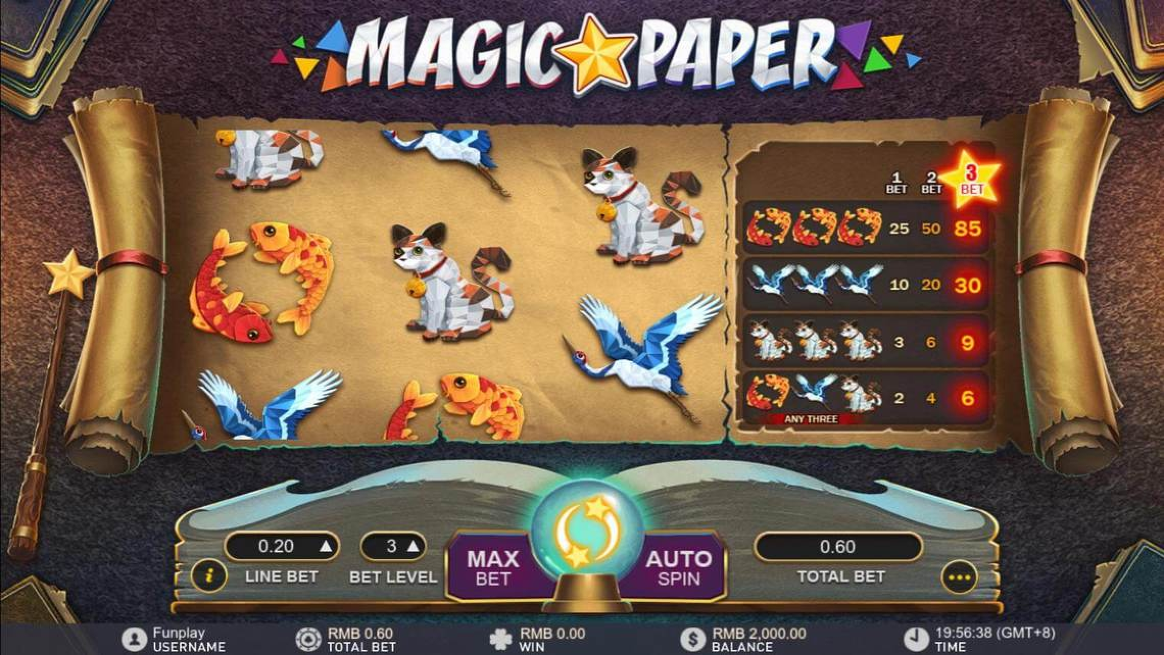 The Magic Paper Online Slot Demo Game by Gameplay Interactive