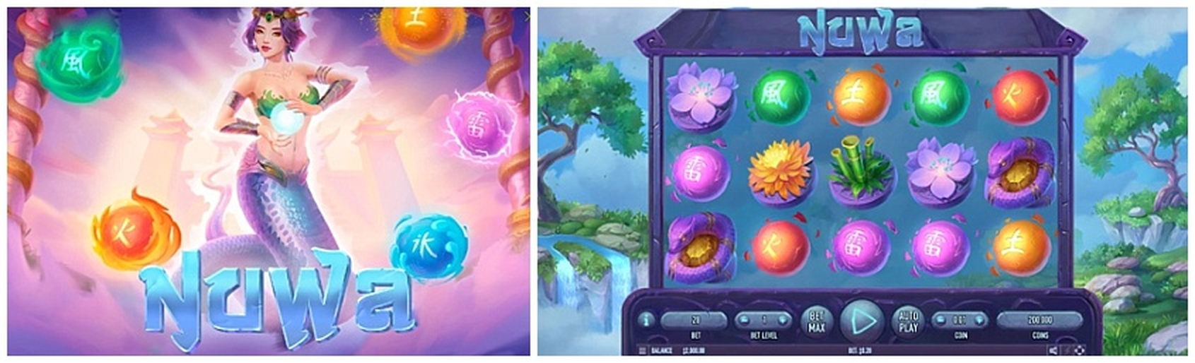 The Nuwa And The Five Elements Online Slot Demo Game by Gameplay Interactive