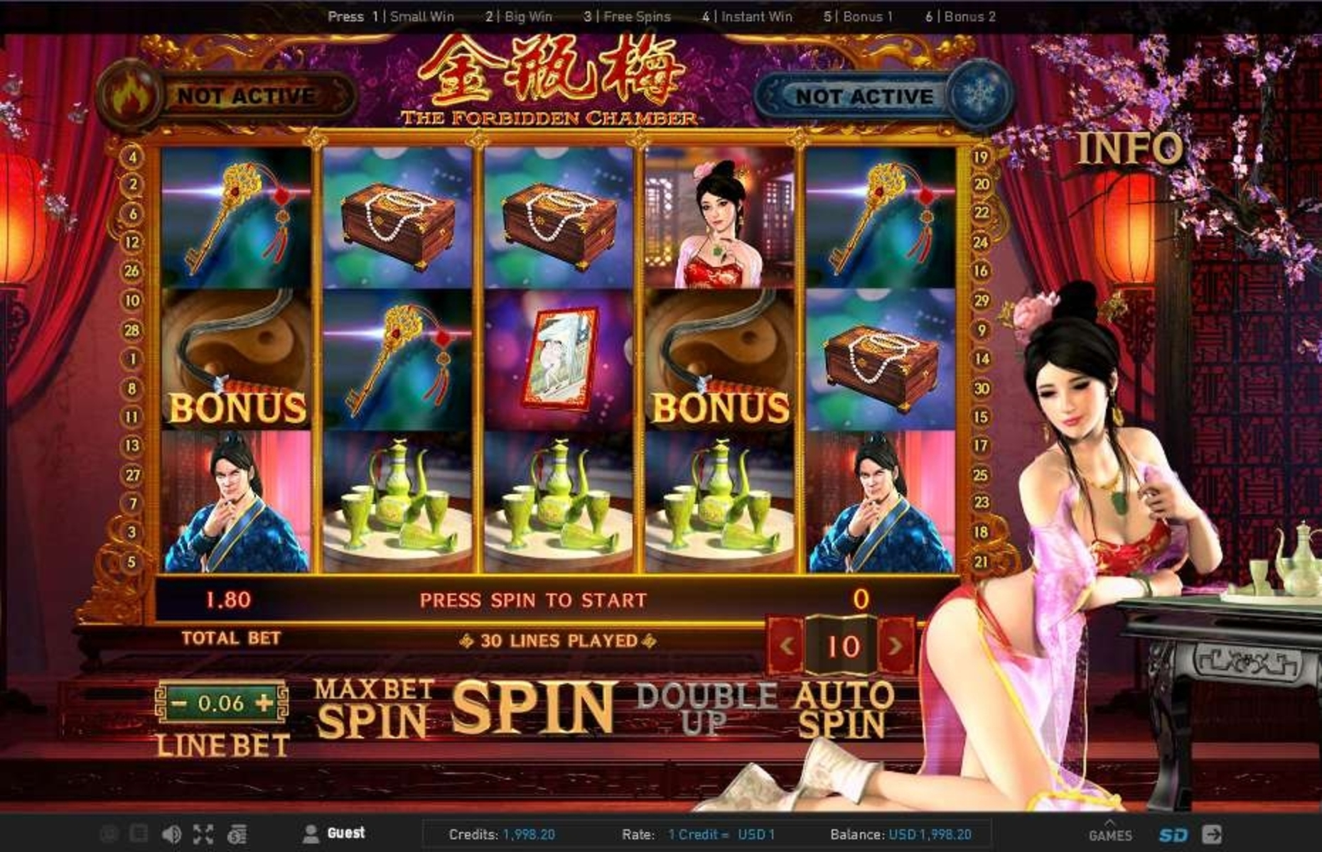 The The Forbidden Chamber Online Slot Demo Game by GamePlay