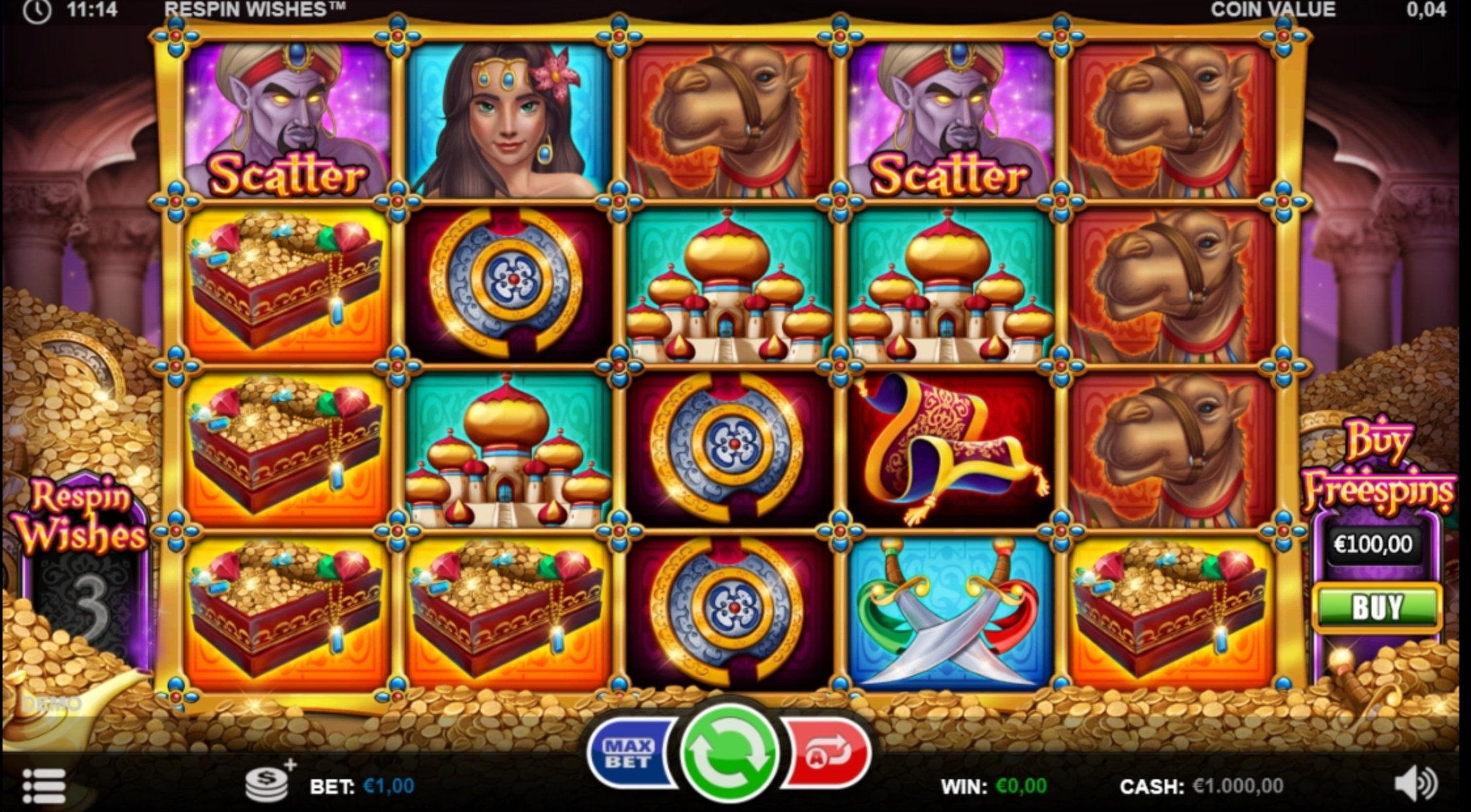 Reels in Respin Wishes Slot Game by Games Inc