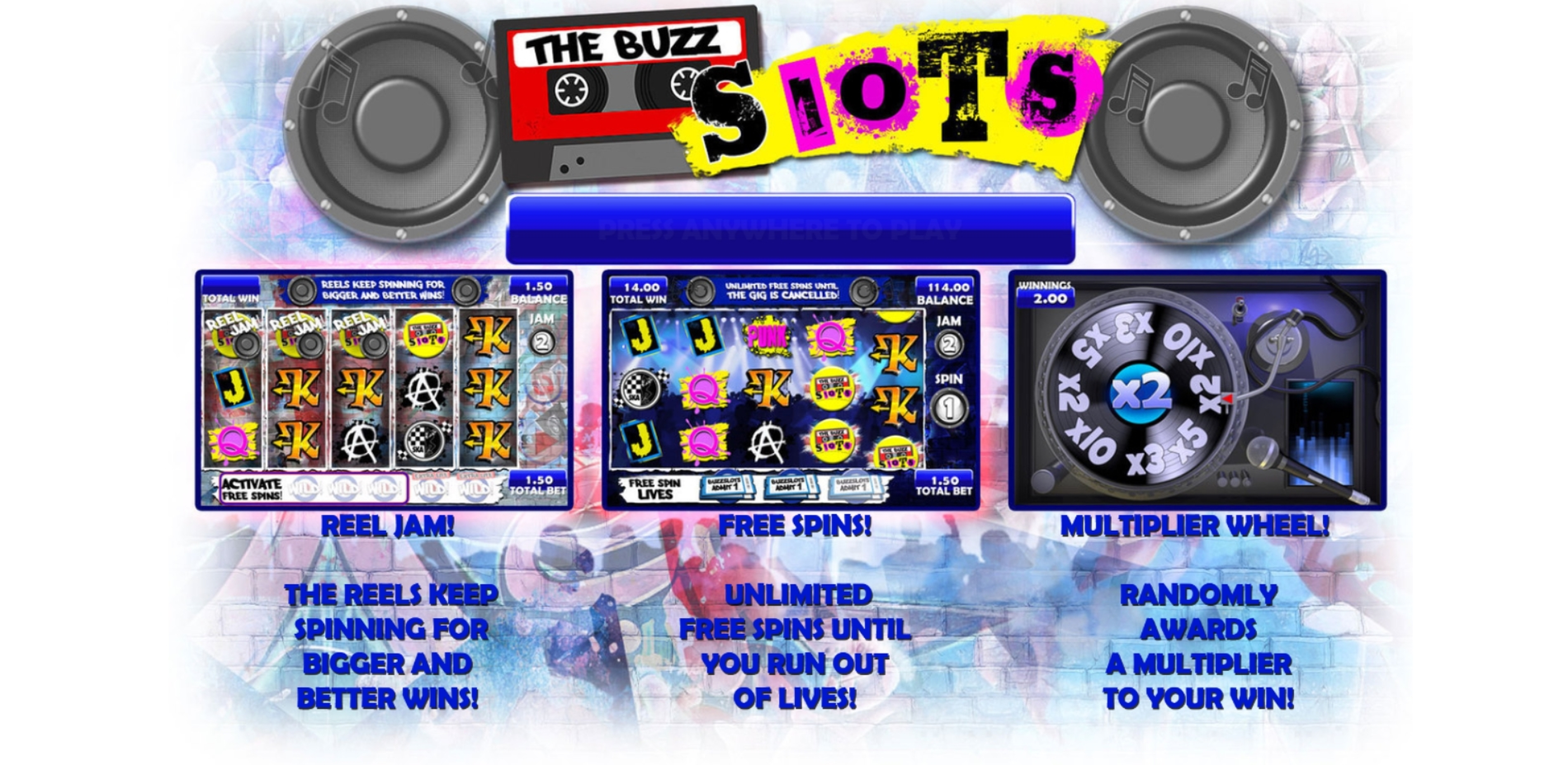 Play The Buzz Slots Free Casino Slot Game by Games Warehouse