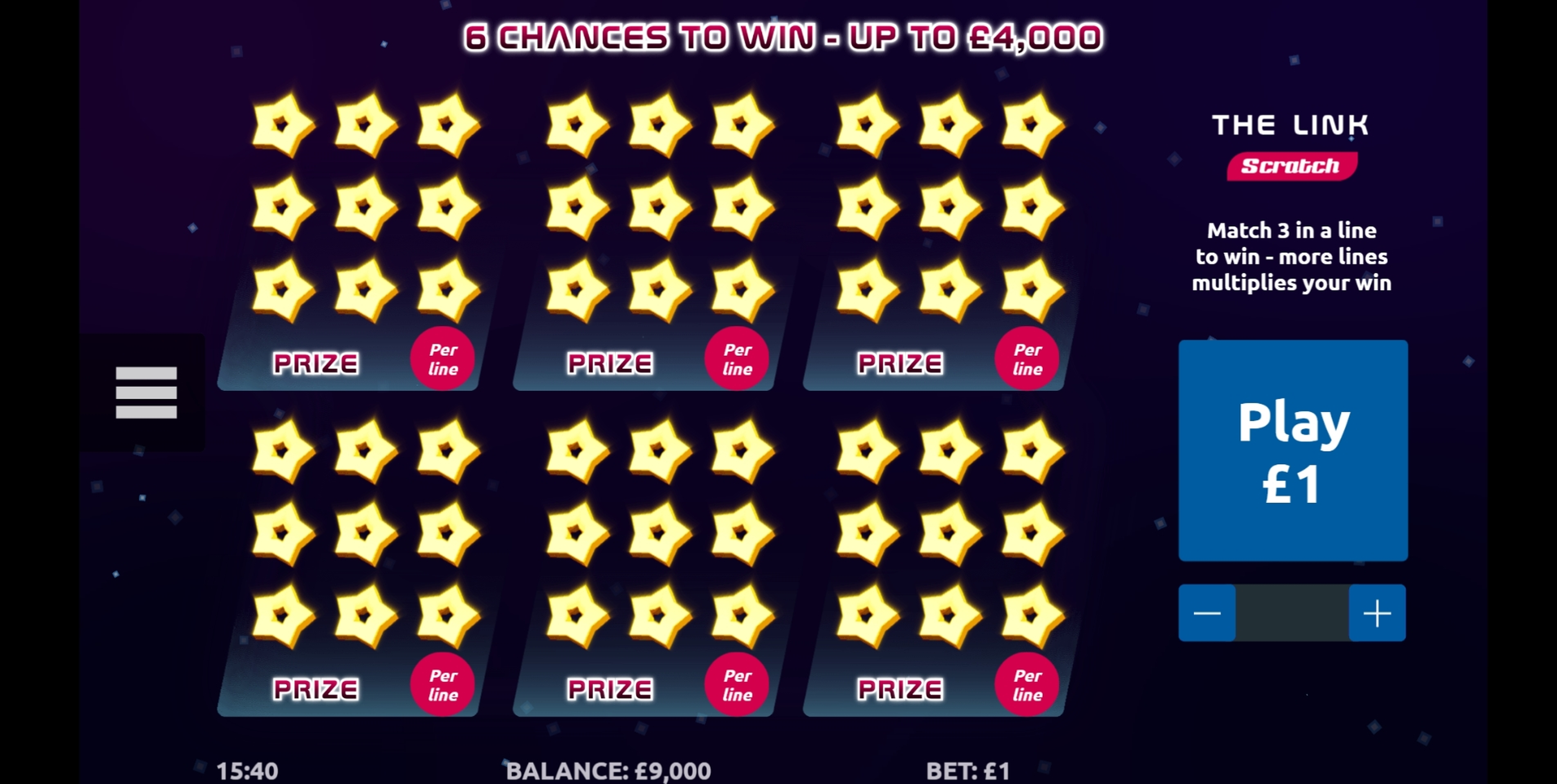 Reels in The Link Scratch Slot Game by Gamevy
