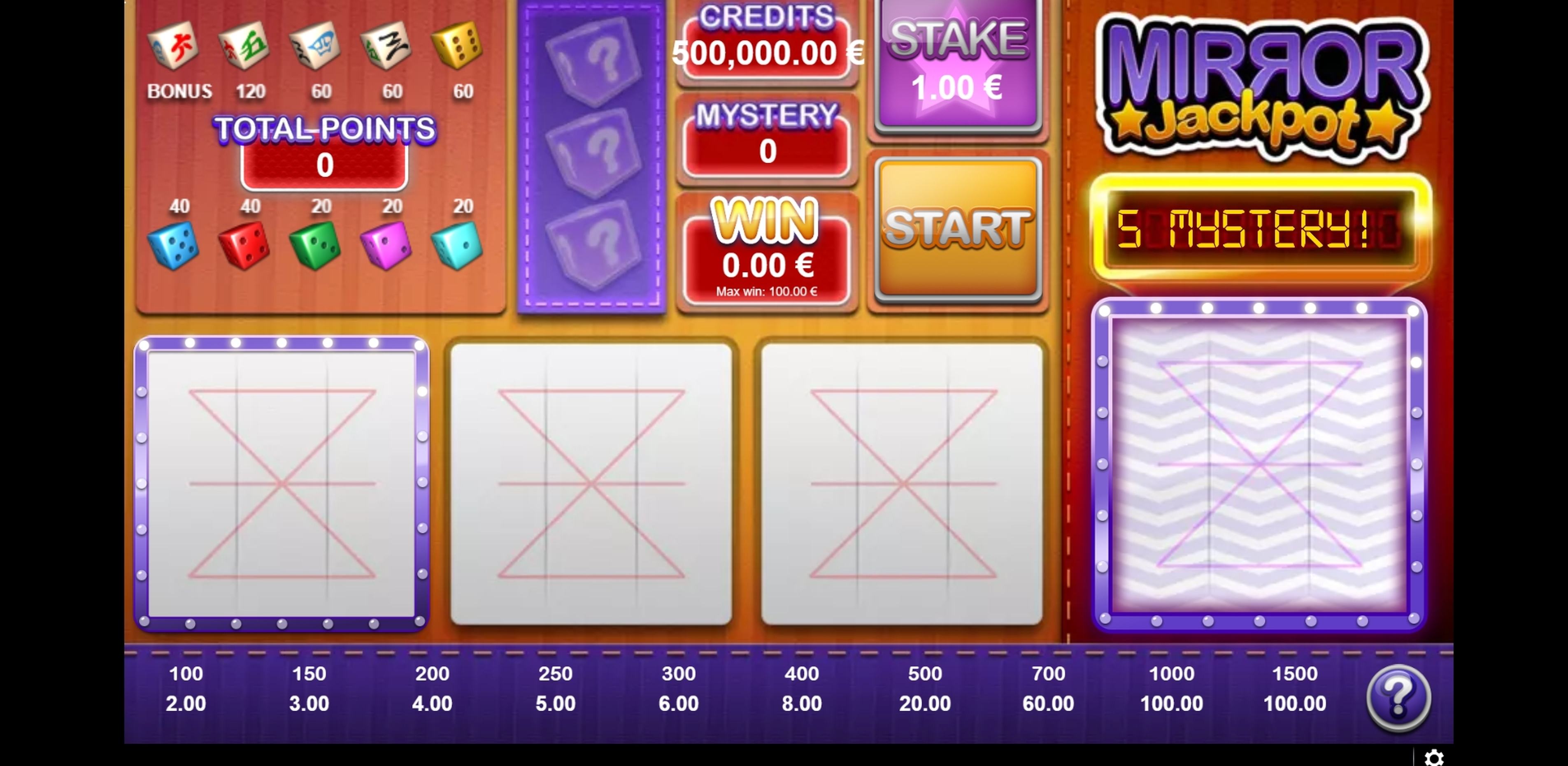 Reels in Mirror Jackpot Slot Game by GAMING1
