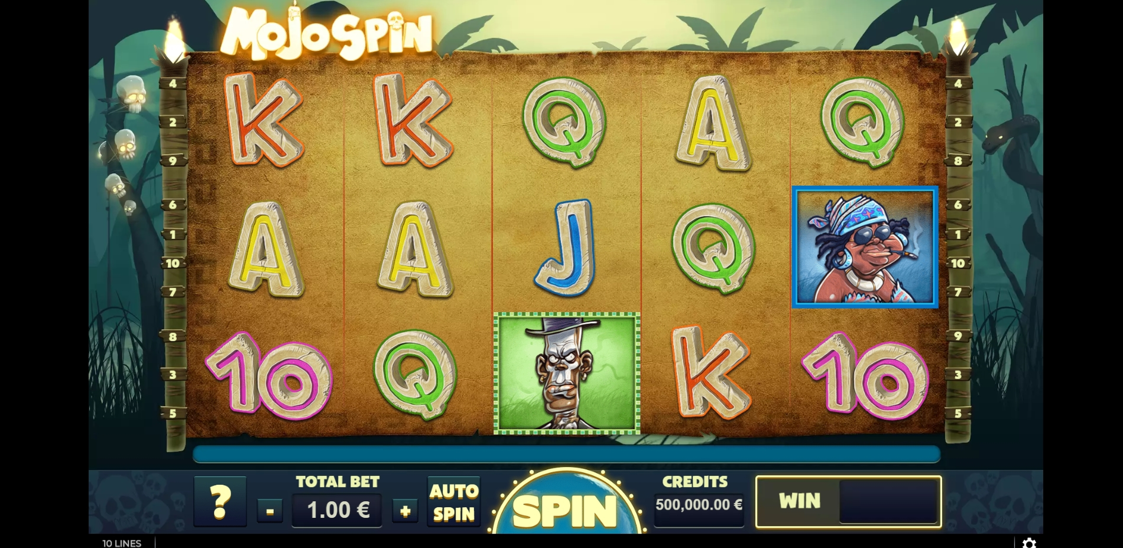 Reels in Mojo Spins Slot Game by GAMING1