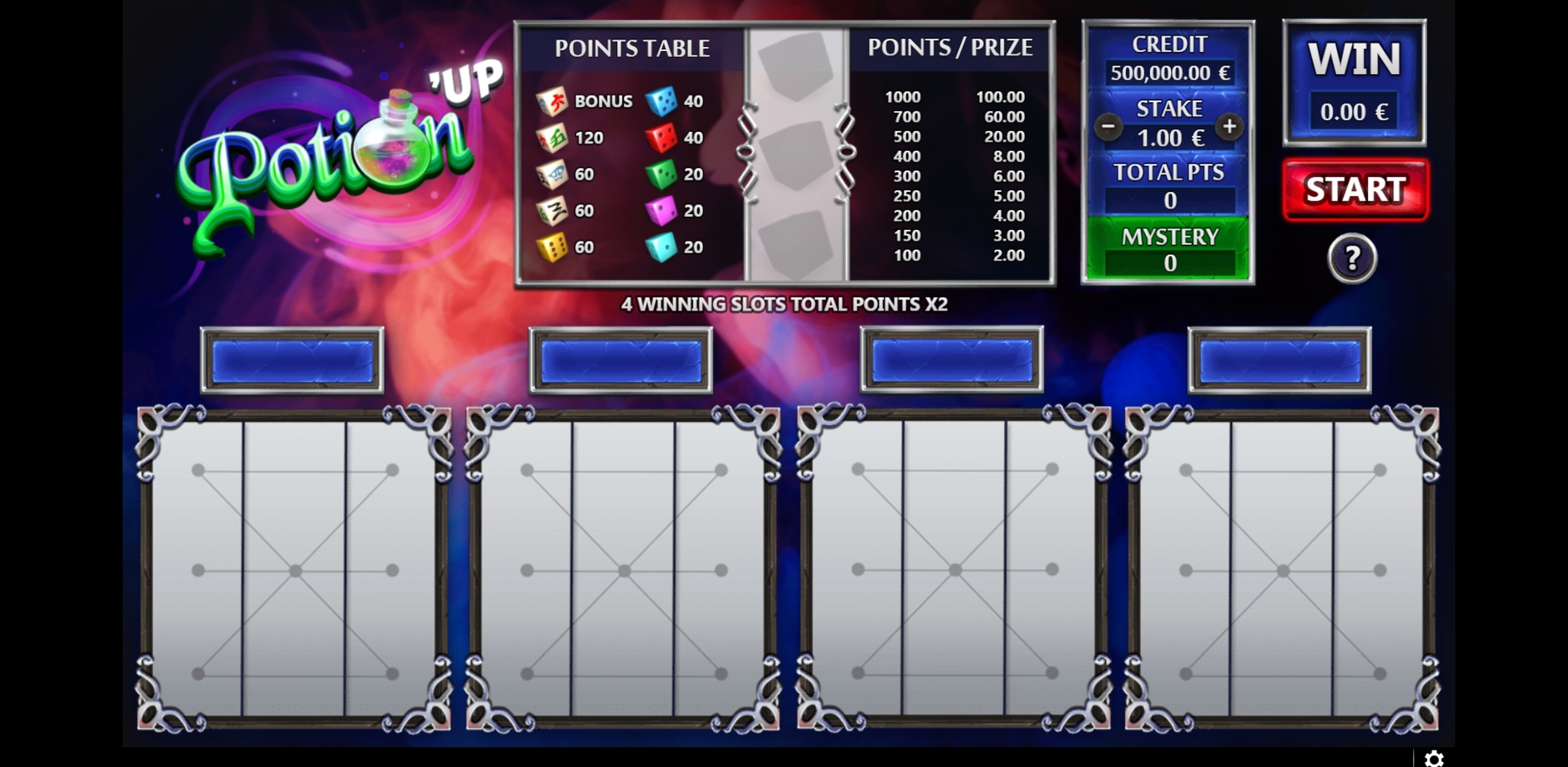 Reels in Potion UP Slot Game by GAMING1
