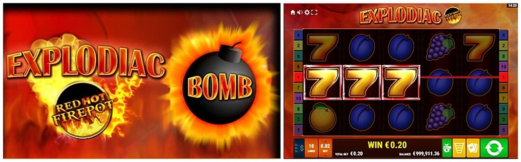 The Explodiac Maxi Play Online Slot Demo Game by Gamomat