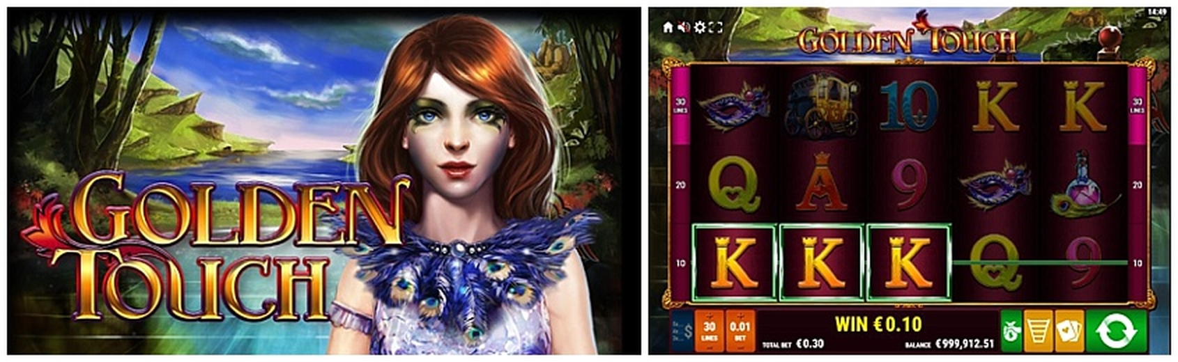 The Golden Touch Online Slot Demo Game by Gamomat