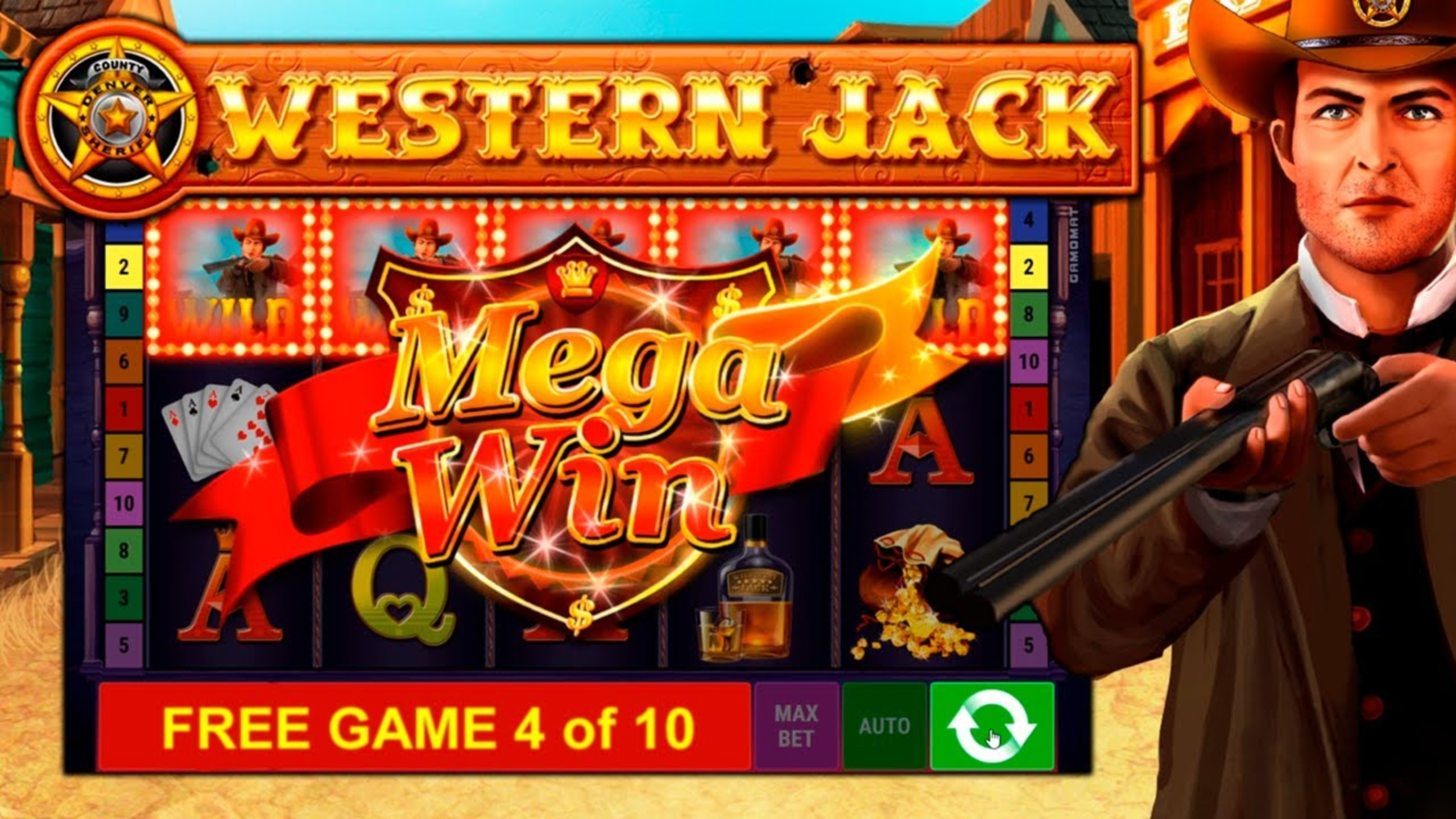 The Western Jack Online Slot Demo Game by Gamomat