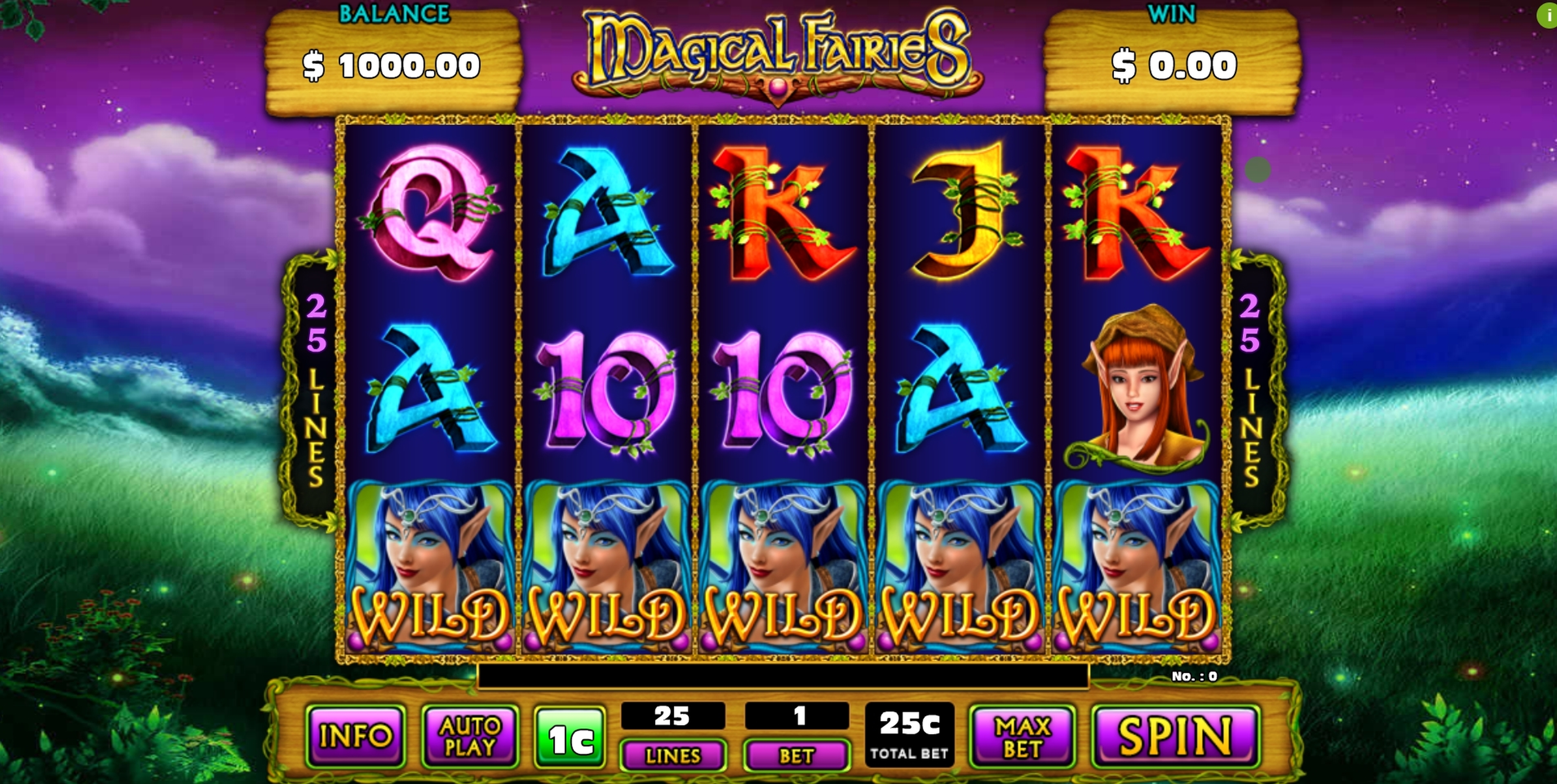 Reels in Magical Fairies Slot Game by GMW