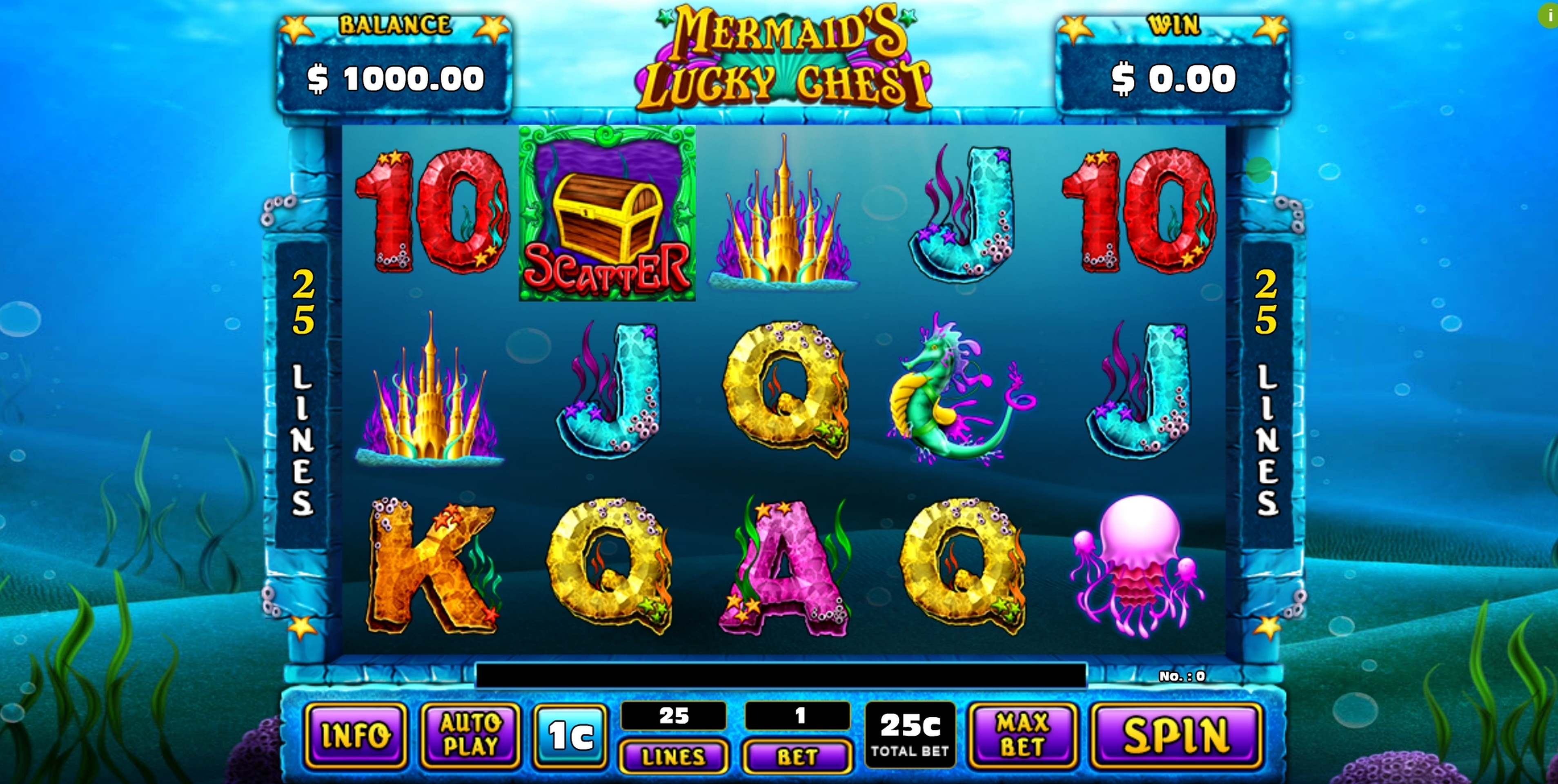 Reels in Mermaid's Lucky Chest Slot Game by GMW