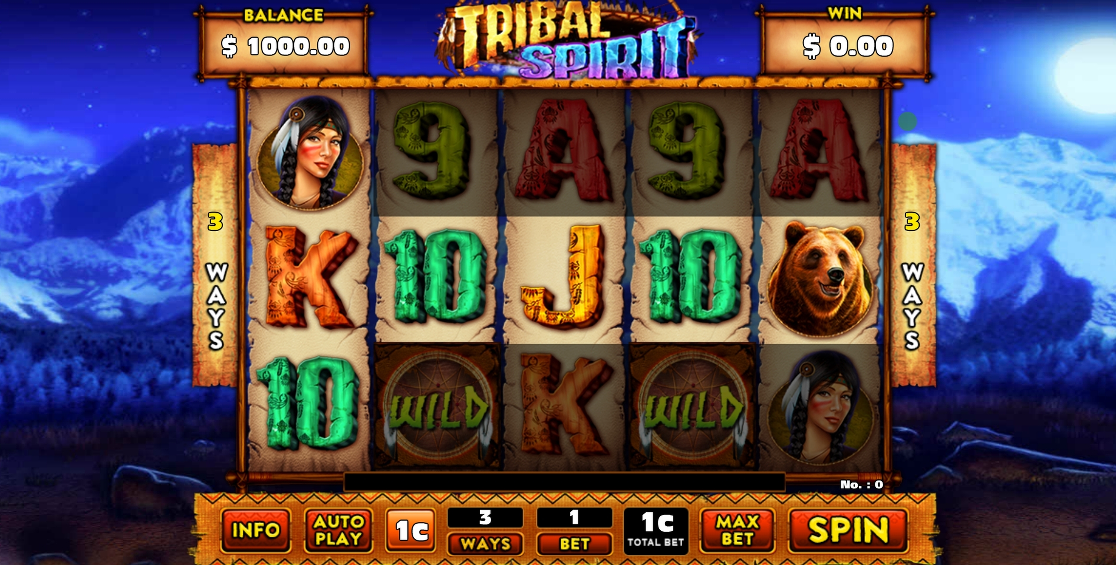 Reels in Tribal Spirit Slot Game by GMW