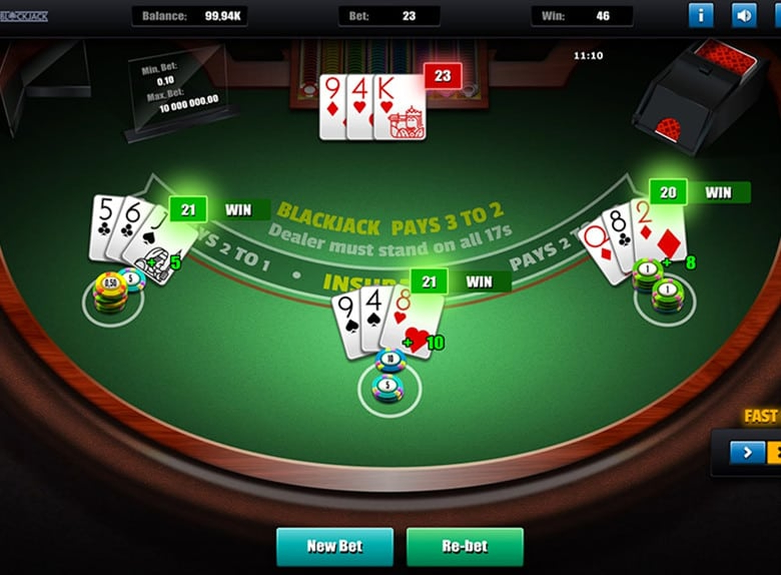 The Grand Blackjack (Green Tube) Online Slot Demo Game by Greentube