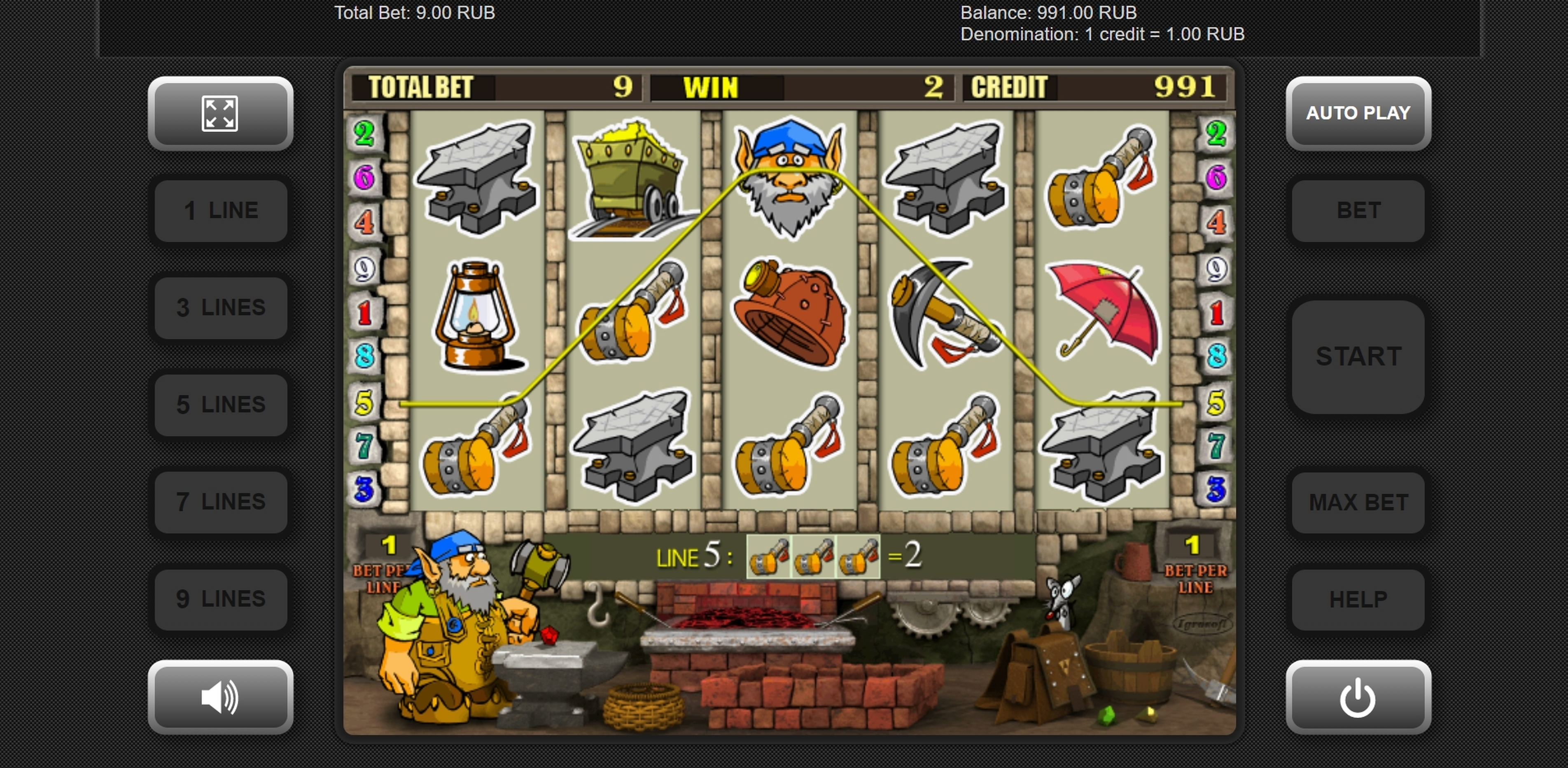 Win Money in Gnome Free Slot Game by Igrosoft