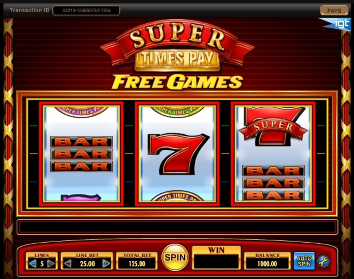 Reels in Super Times Pay Slot Game by IGT