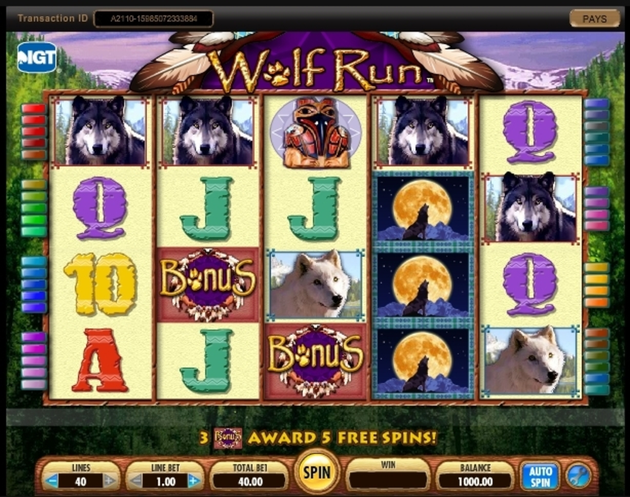 Reels in Wolf Run Slot Game by IGT