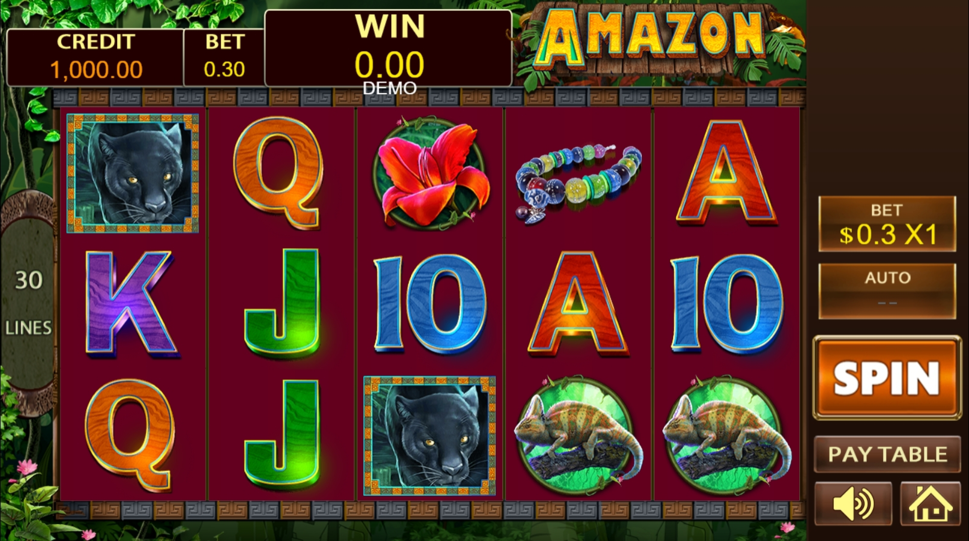 Reels in Amazon (PlayStar) Slot Game by PlayStar