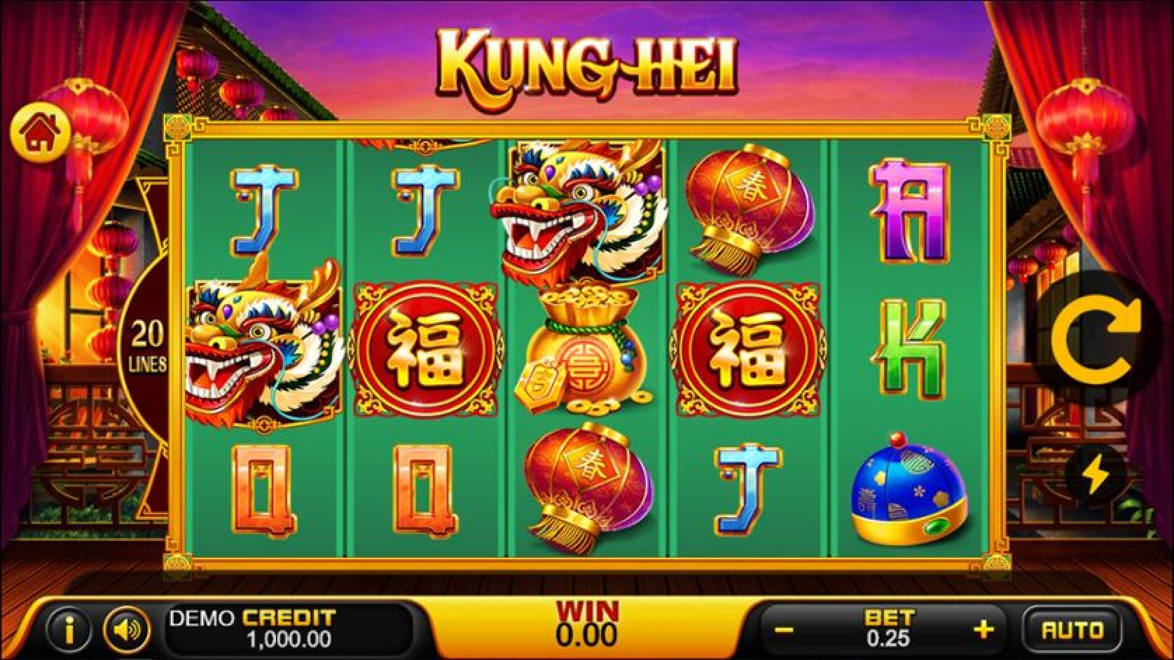The Kung Hei Online Slot Demo Game by PlayStar