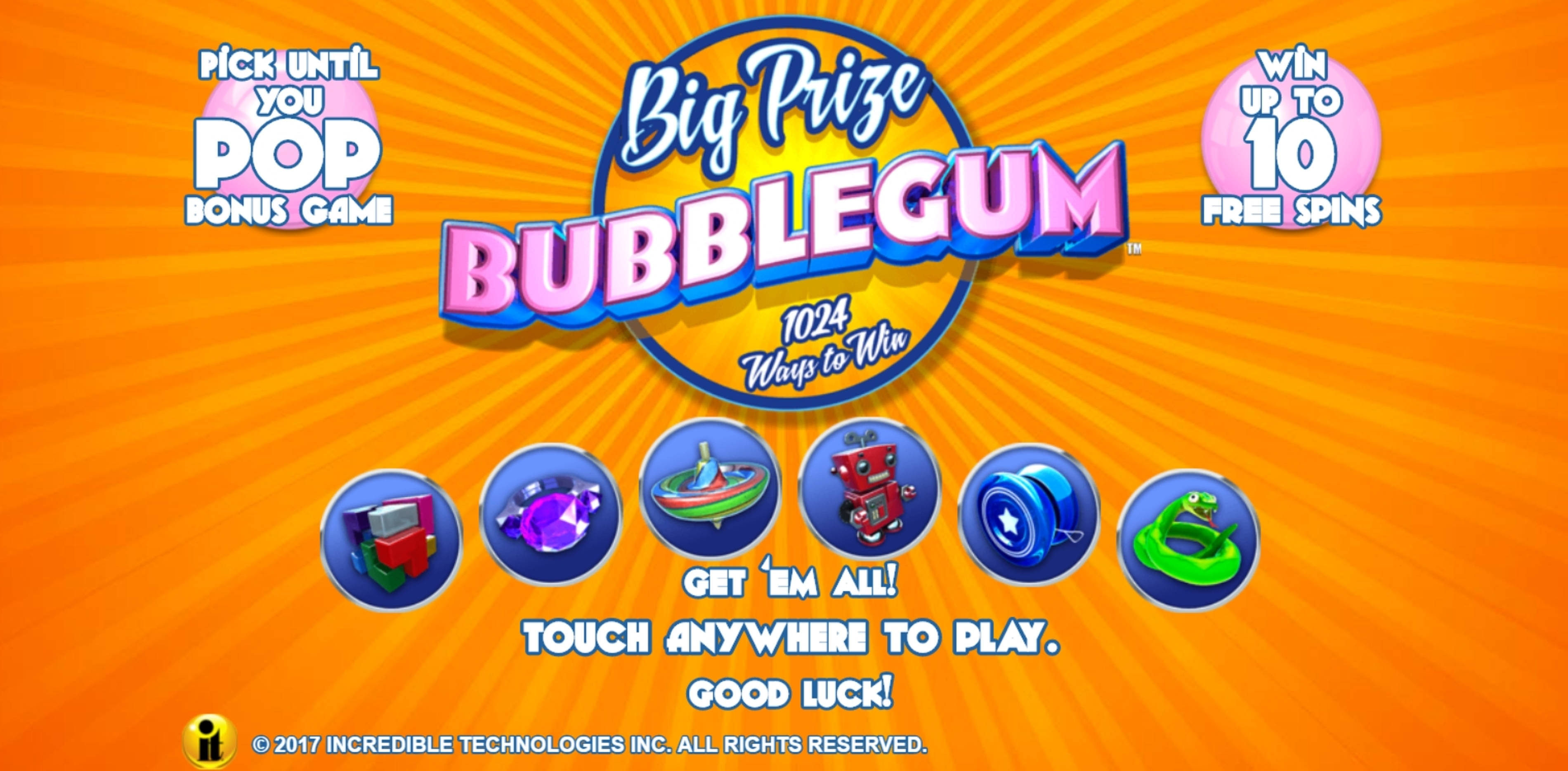 Play Big Prize Bubblegum Free Casino Slot Game by Incredible Technologies