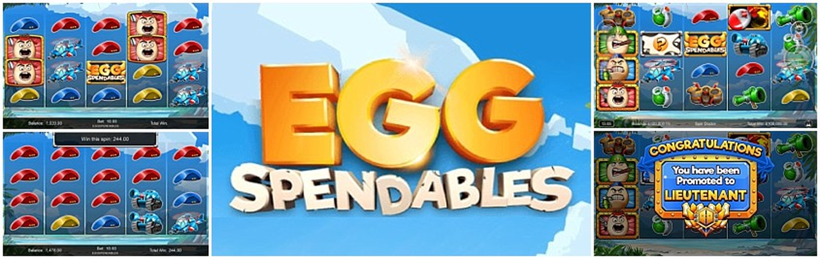 The Eggspendables Online Slot Demo Game by Incredible Technologies