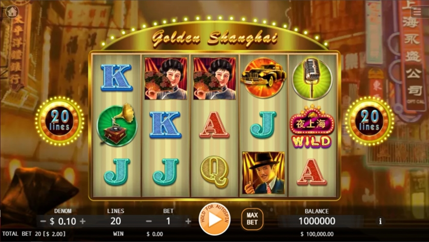 The Golden Shanghai Online Slot Demo Game by KA Gaming