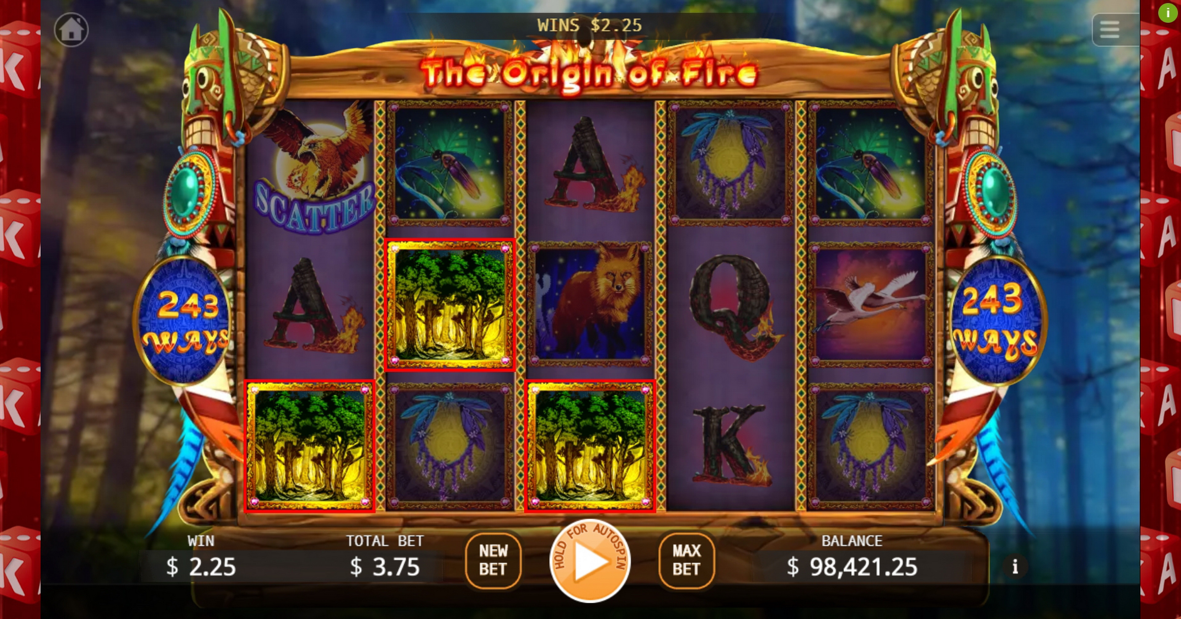 Win Money in The Origin Of Fire Free Slot Game by KA Gaming
