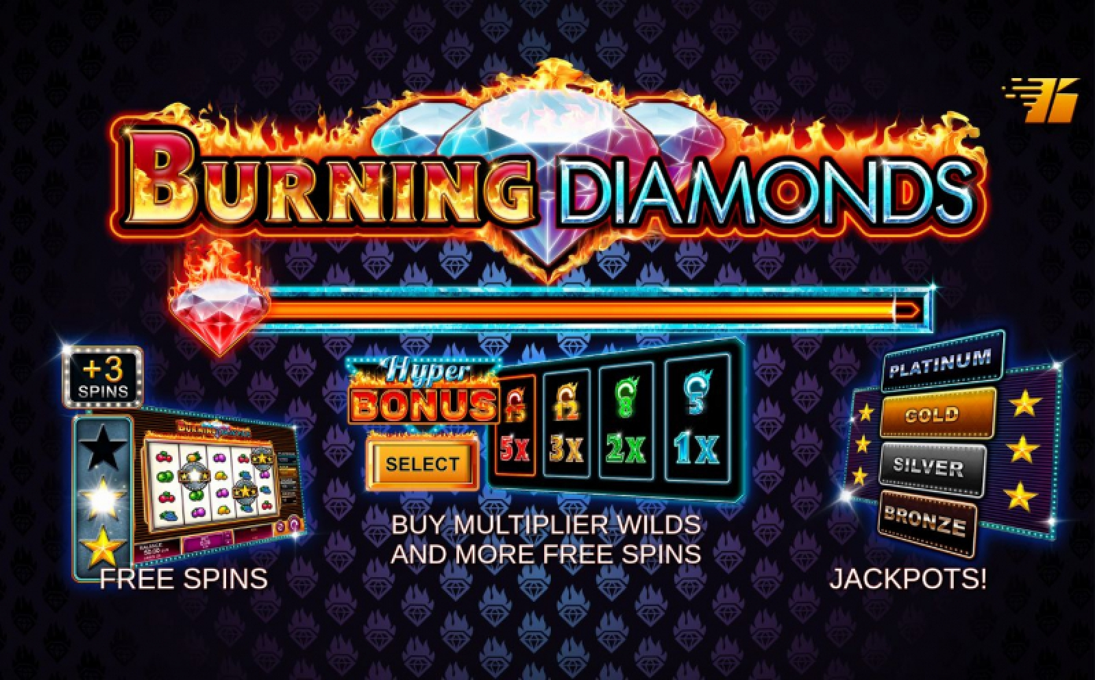 The Burning Diamonds Online Slot Demo Game by Kalamba Games