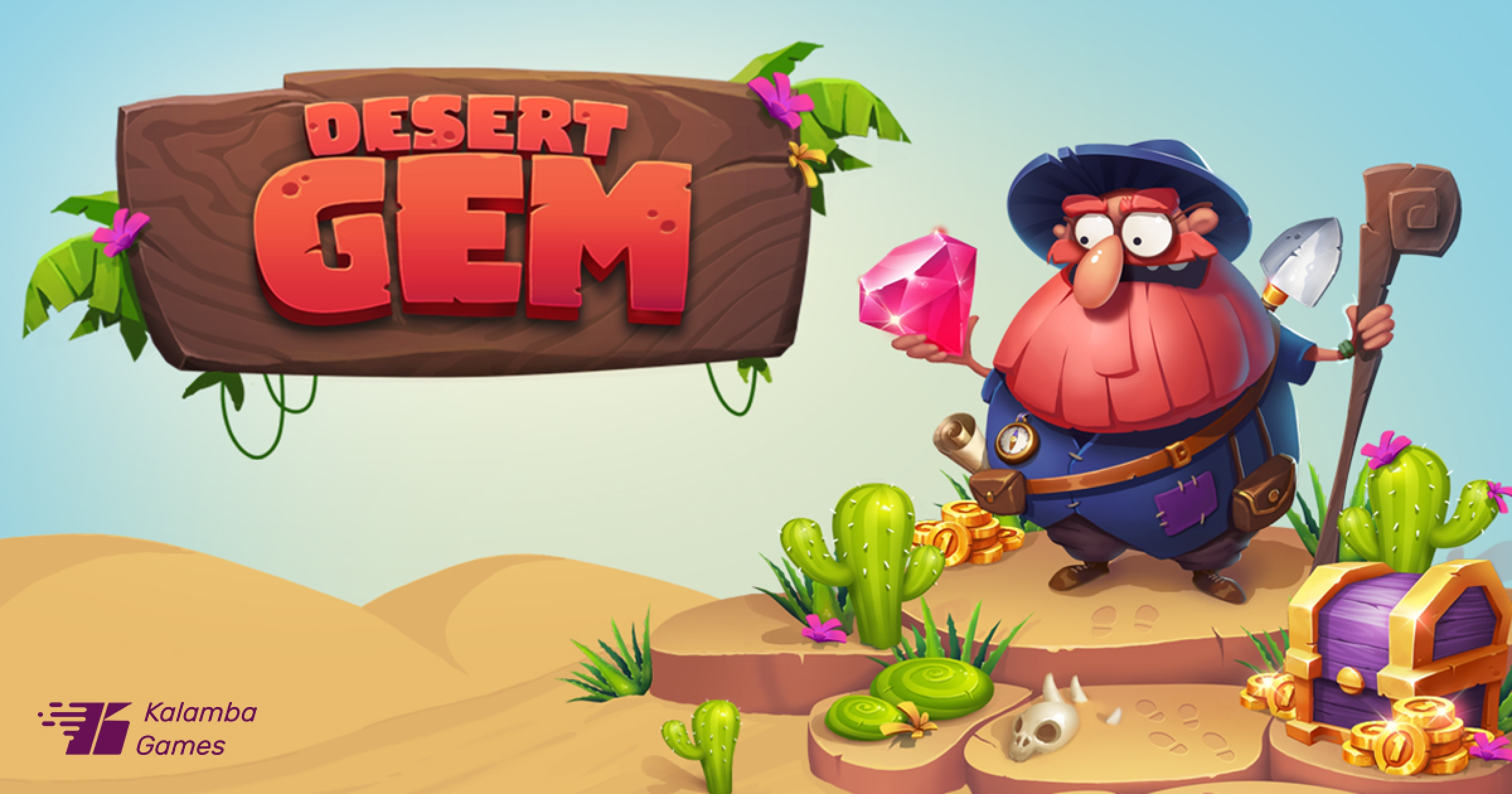 The Desert Gem Online Slot Demo Game by Kalamba Games