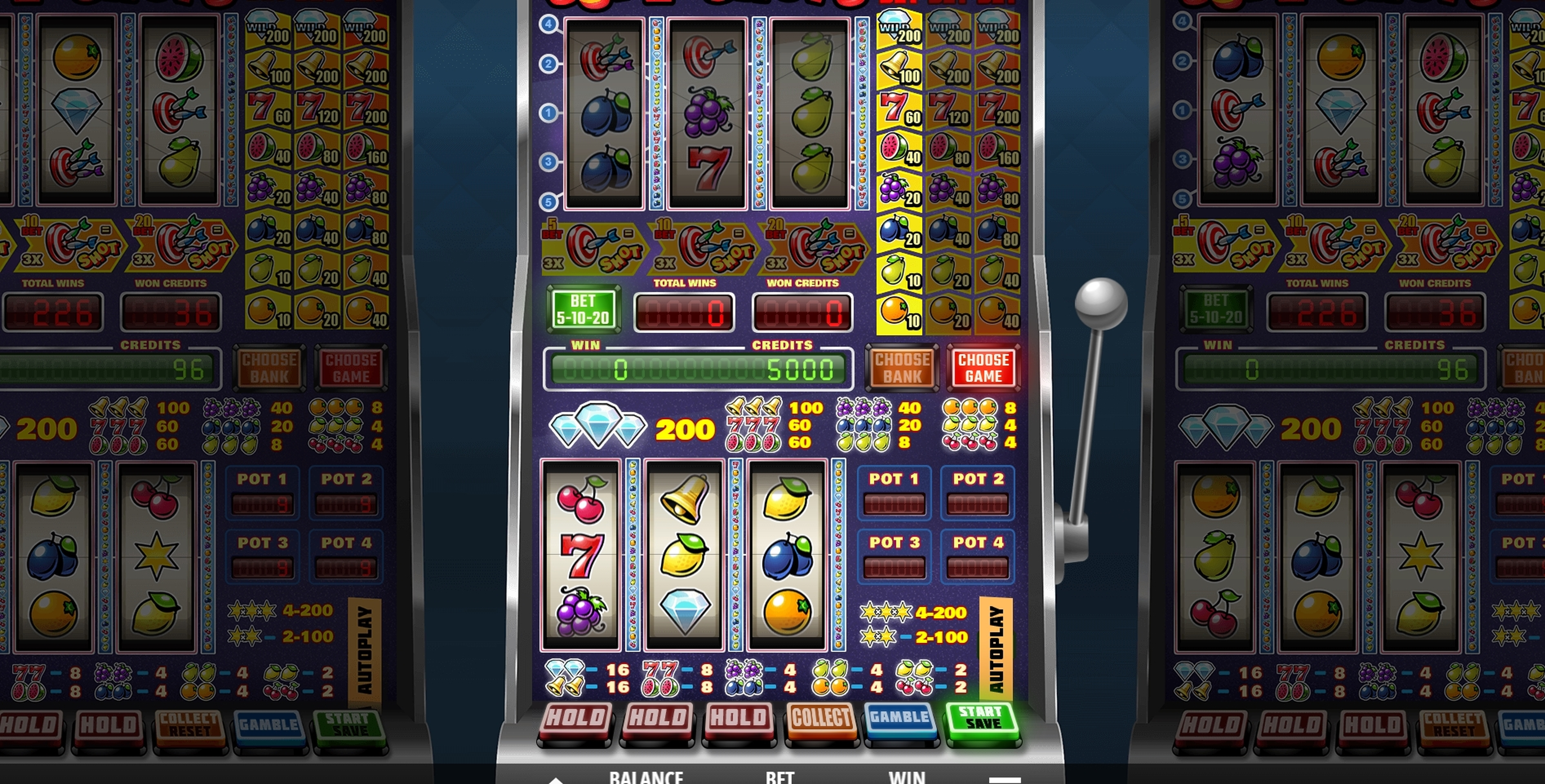 Reels in Supershots Slot Game by Leander Games