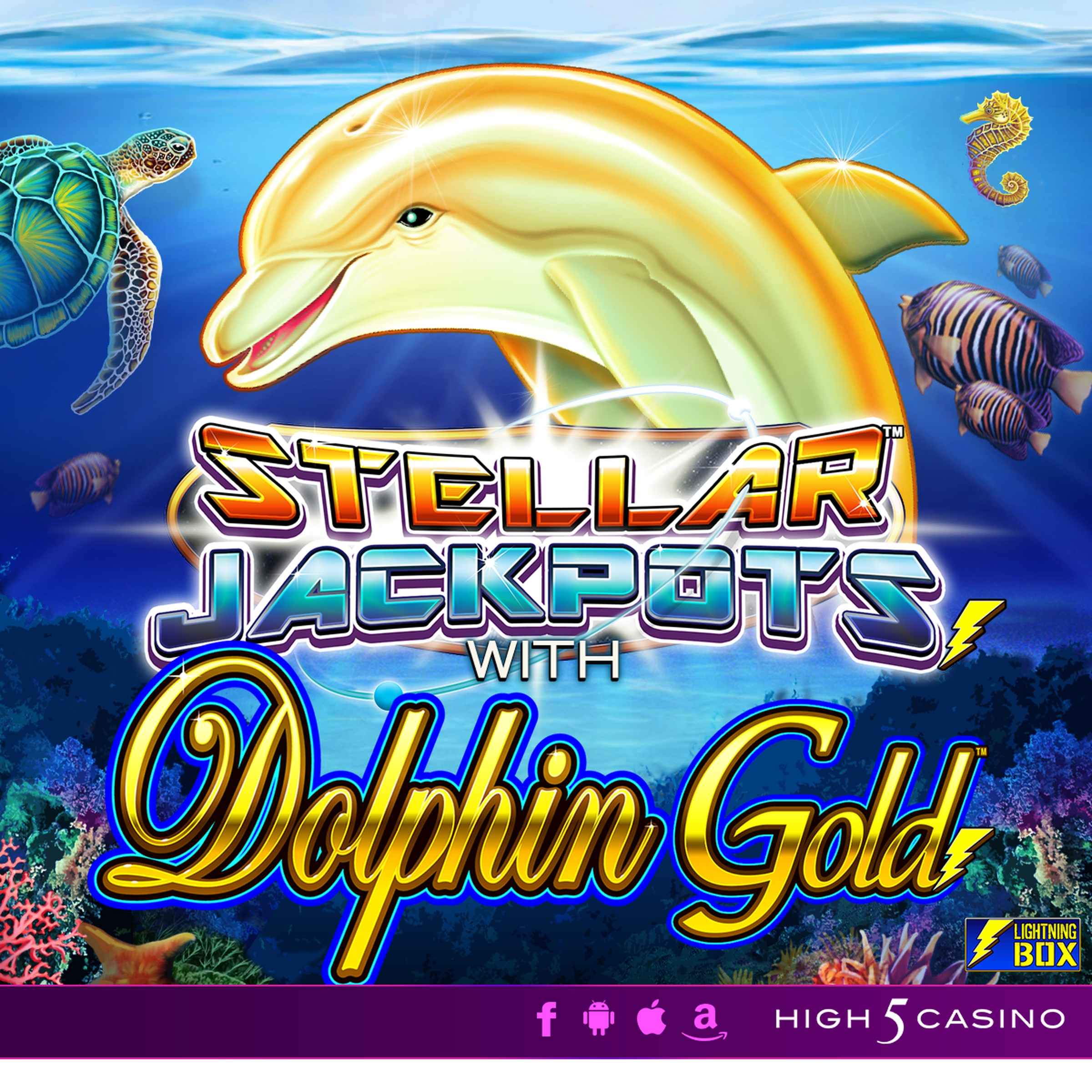 The Dolphin Gold with Stellar Jackpots Online Slot Demo Game by Lightning Box