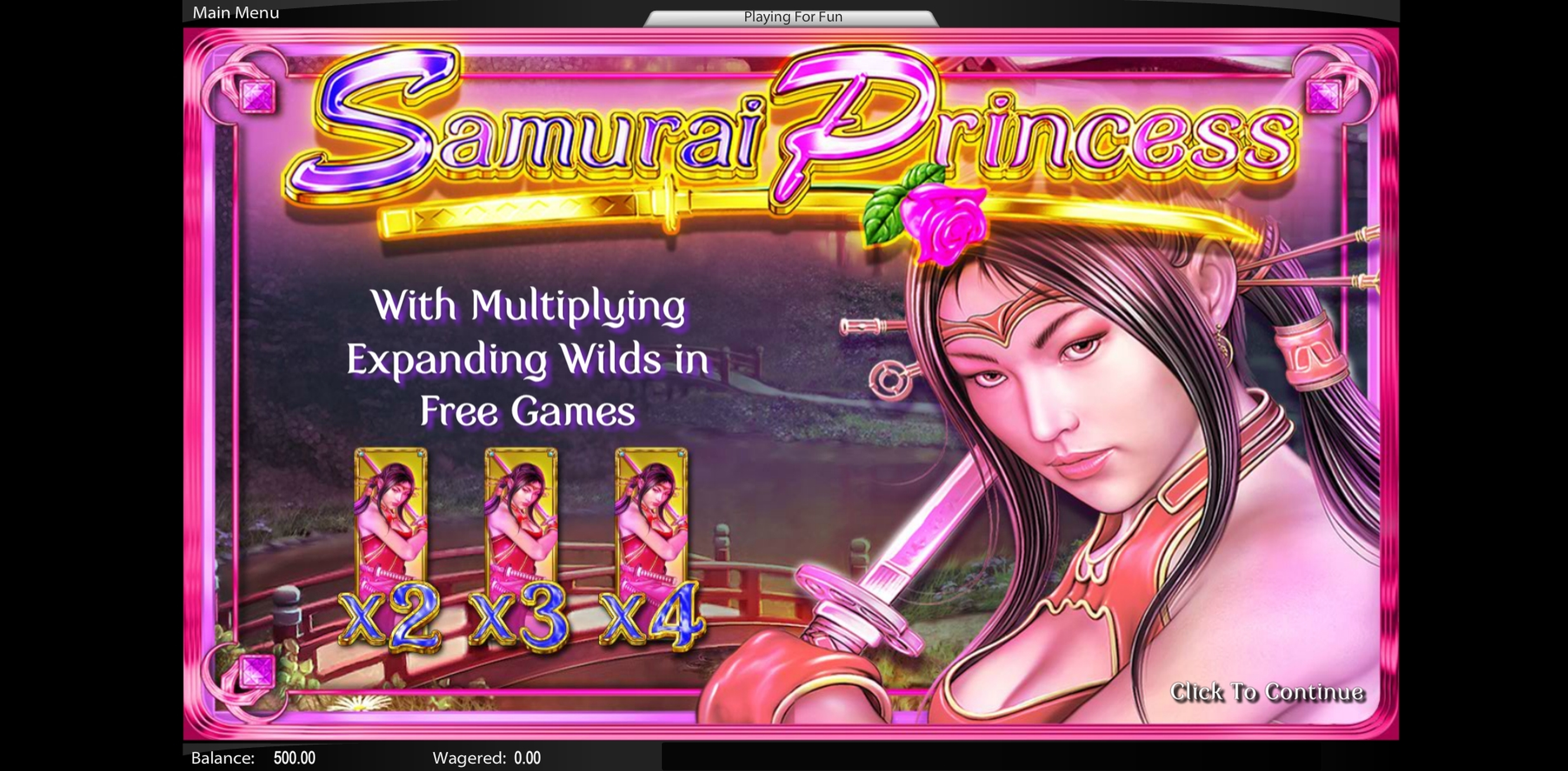 Play Samurai Princess Free Casino Slot Game by Lightning Box