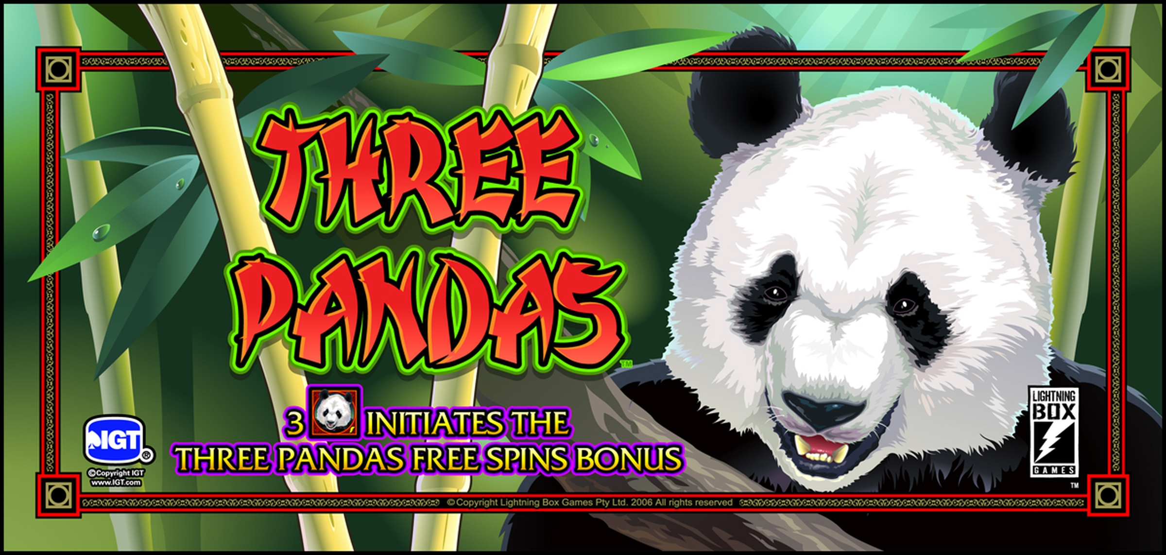 The Three Pandas Online Slot Demo Game by Lightning Box