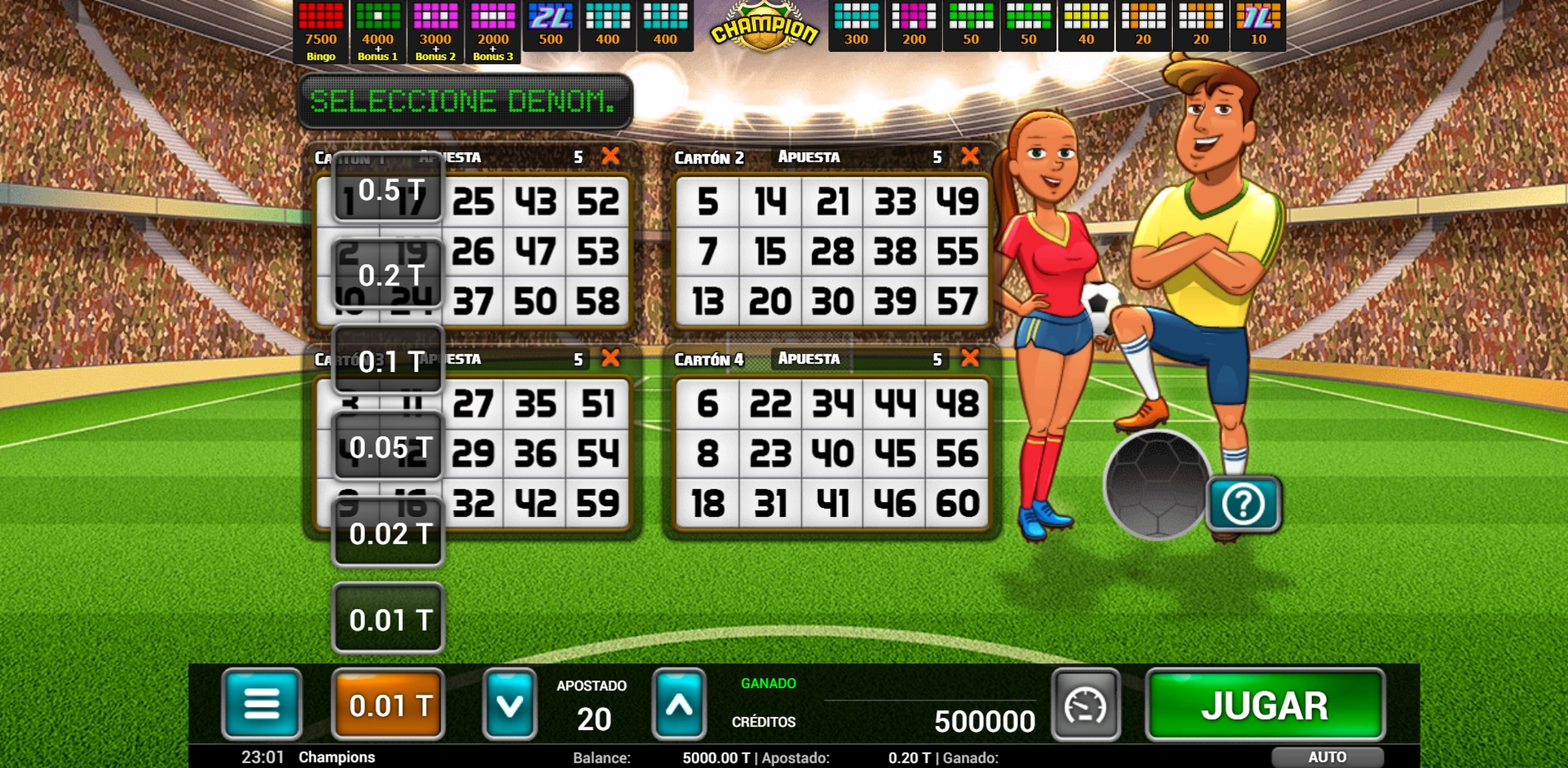 Reels in Champion Bingo Slot Game by MGA