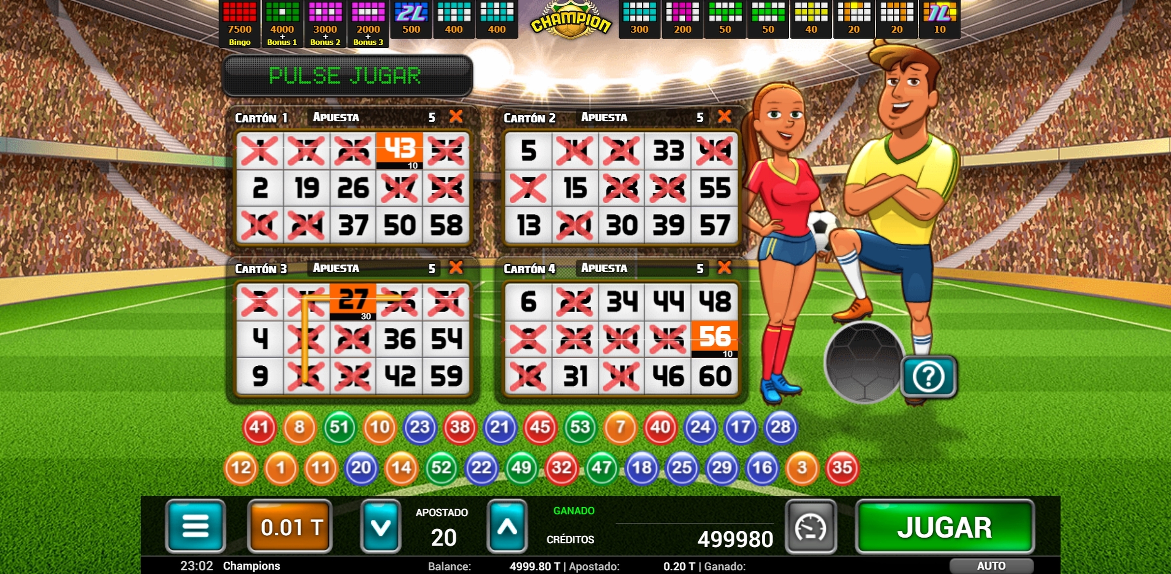 Win Money in Champion Bingo Free Slot Game by MGA