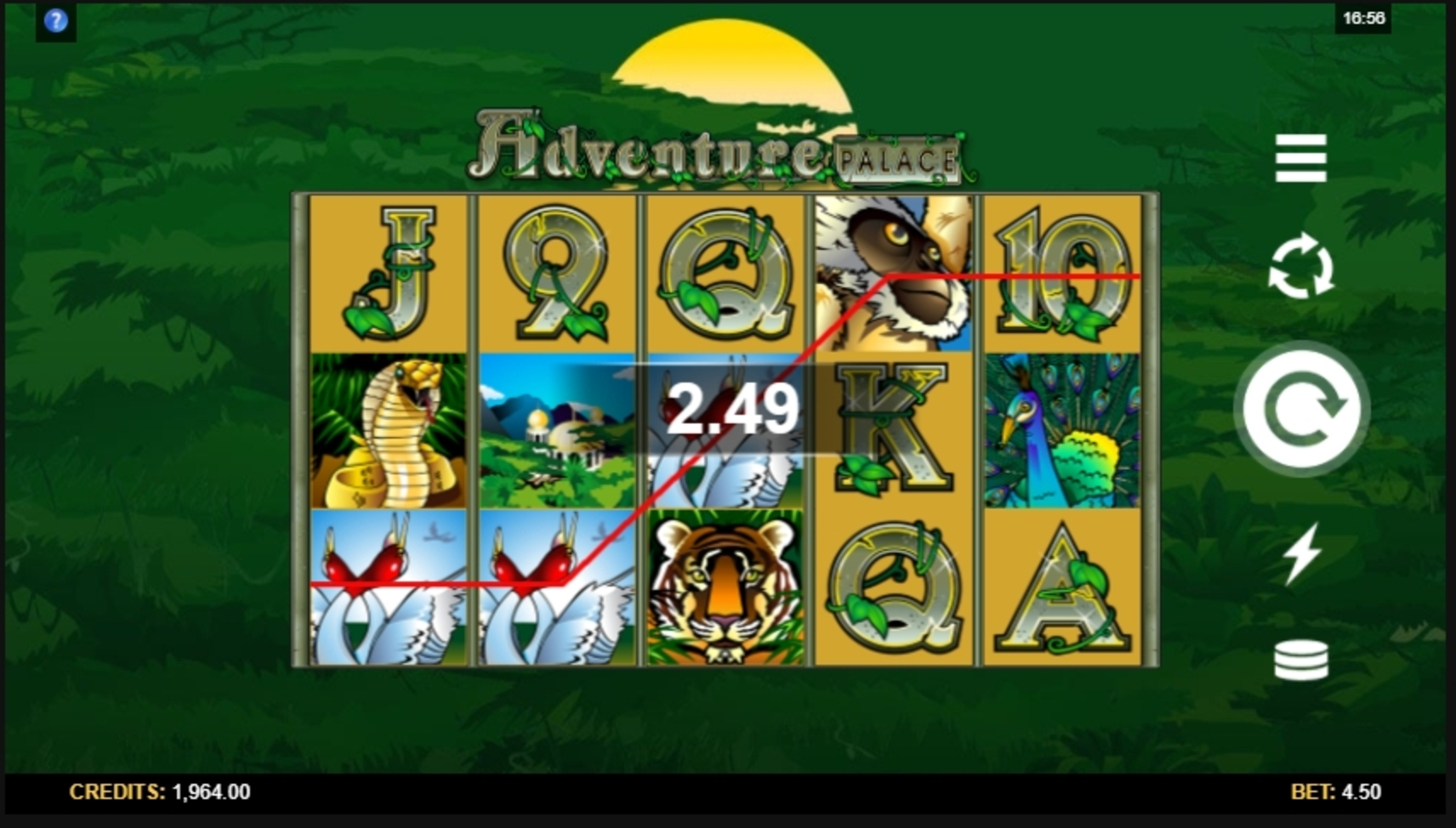 Win Money in Adventure Palace Free Slot Game by Microgaming
