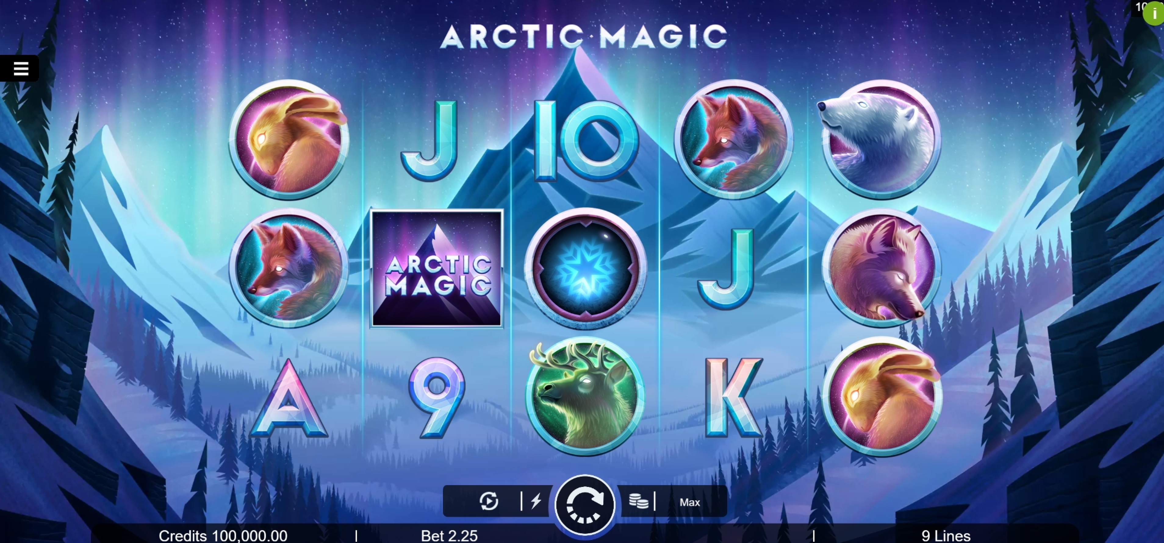 Reels in Arctic Magic Slot Game by Microgaming