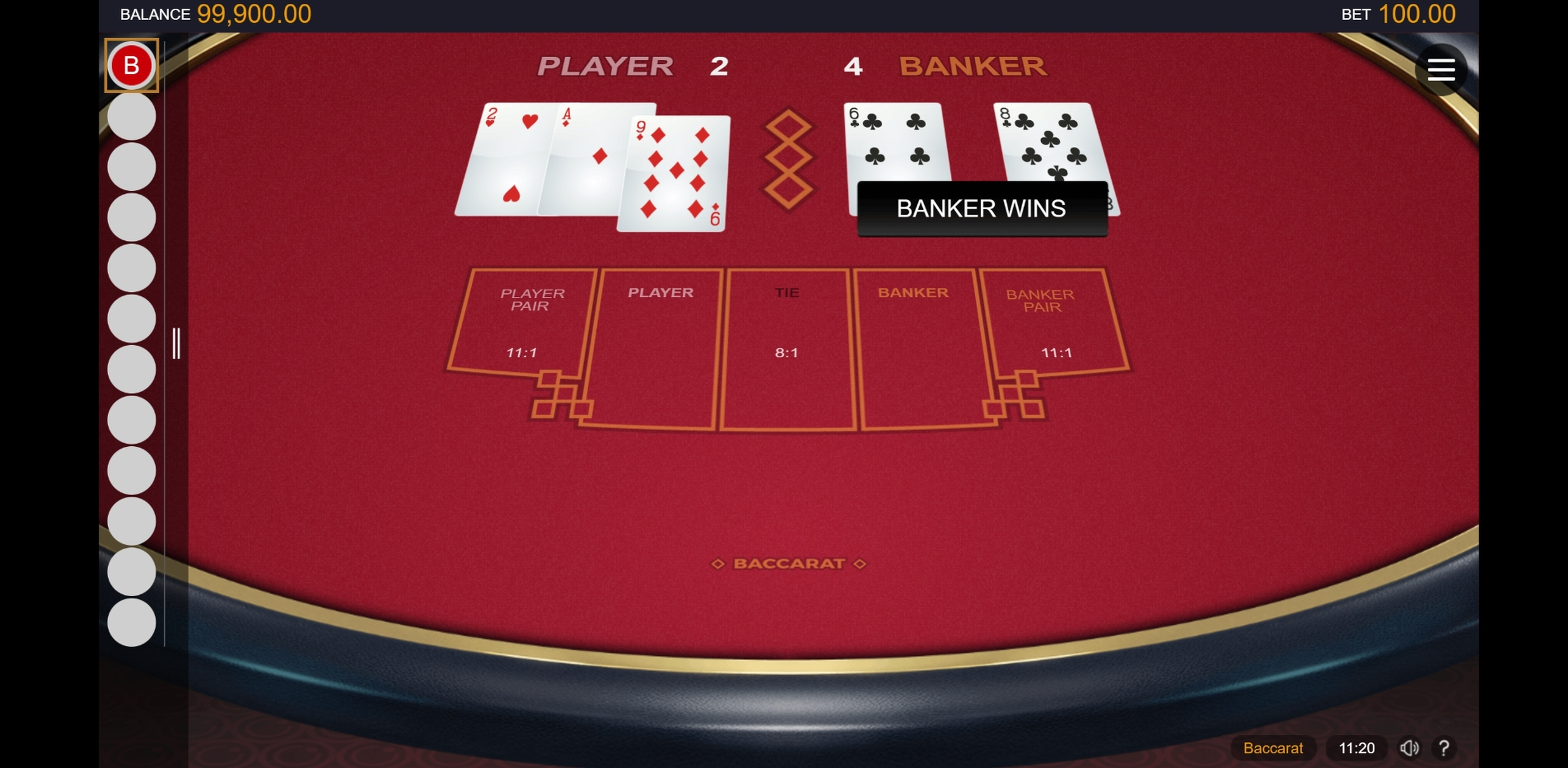 Win Money in Baccarat Gold (Microgaming) Free Slot Game by Microgaming