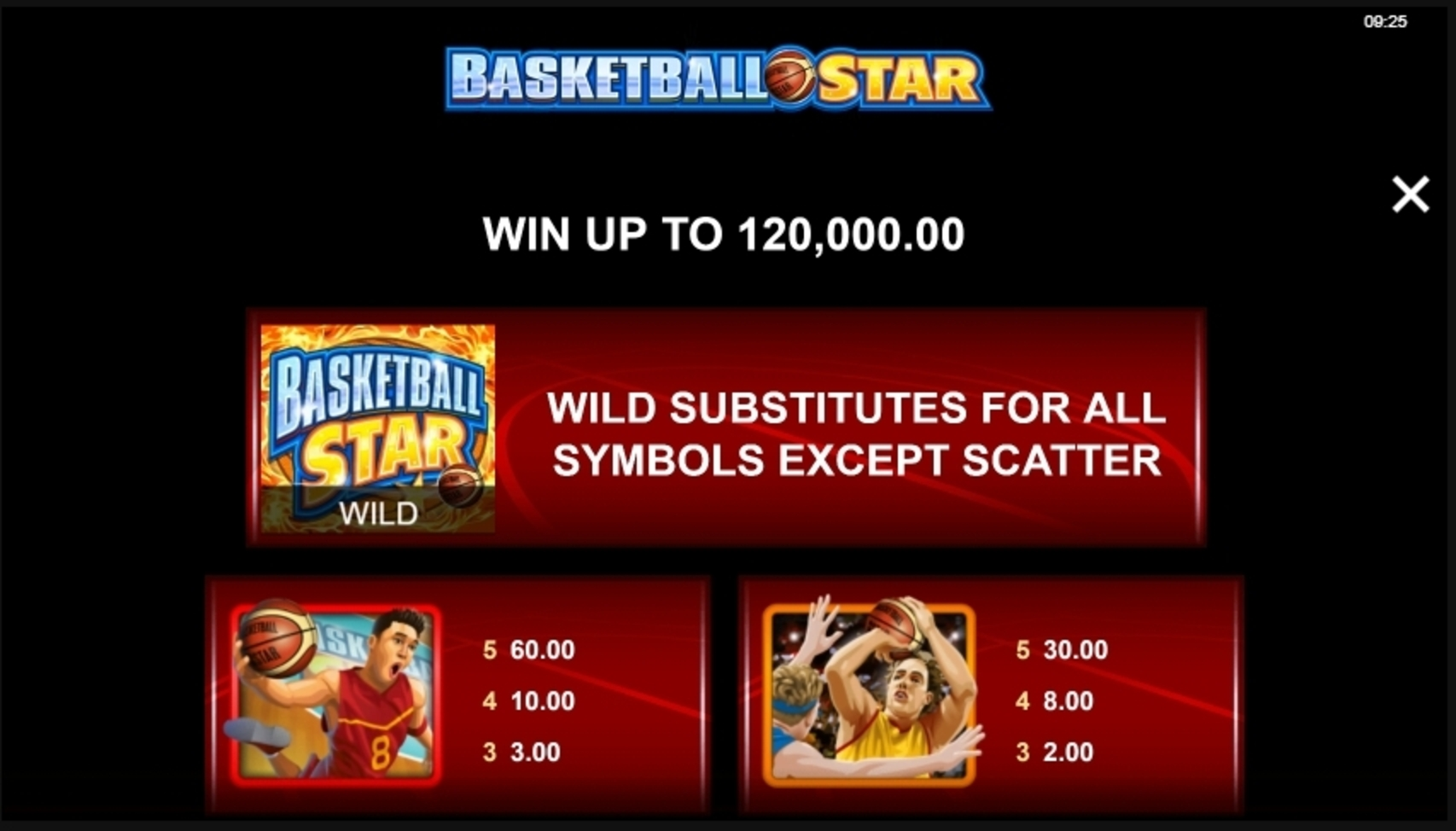 Info of Basketball Star Slot Game by Microgaming