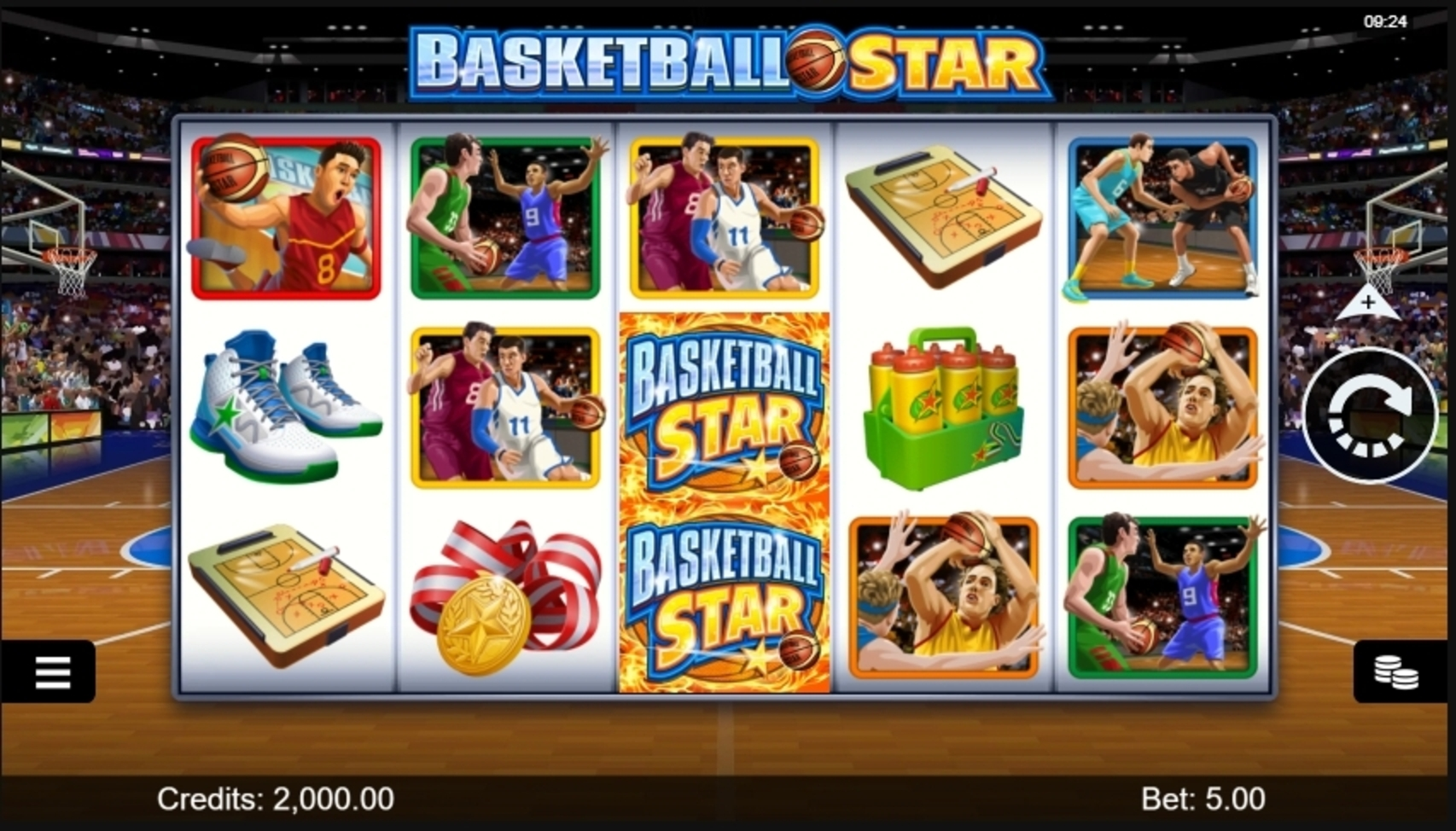 Reels in Basketball Star Slot Game by Microgaming