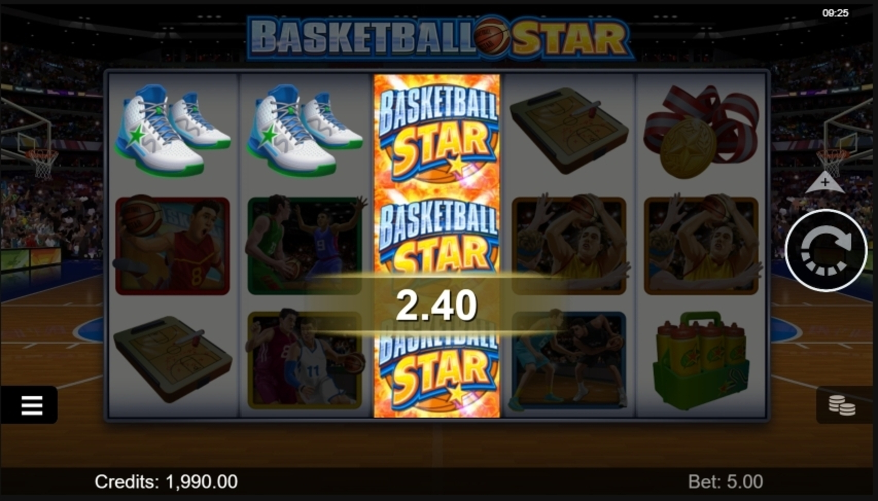 Win Money in Basketball Star Free Slot Game by Microgaming