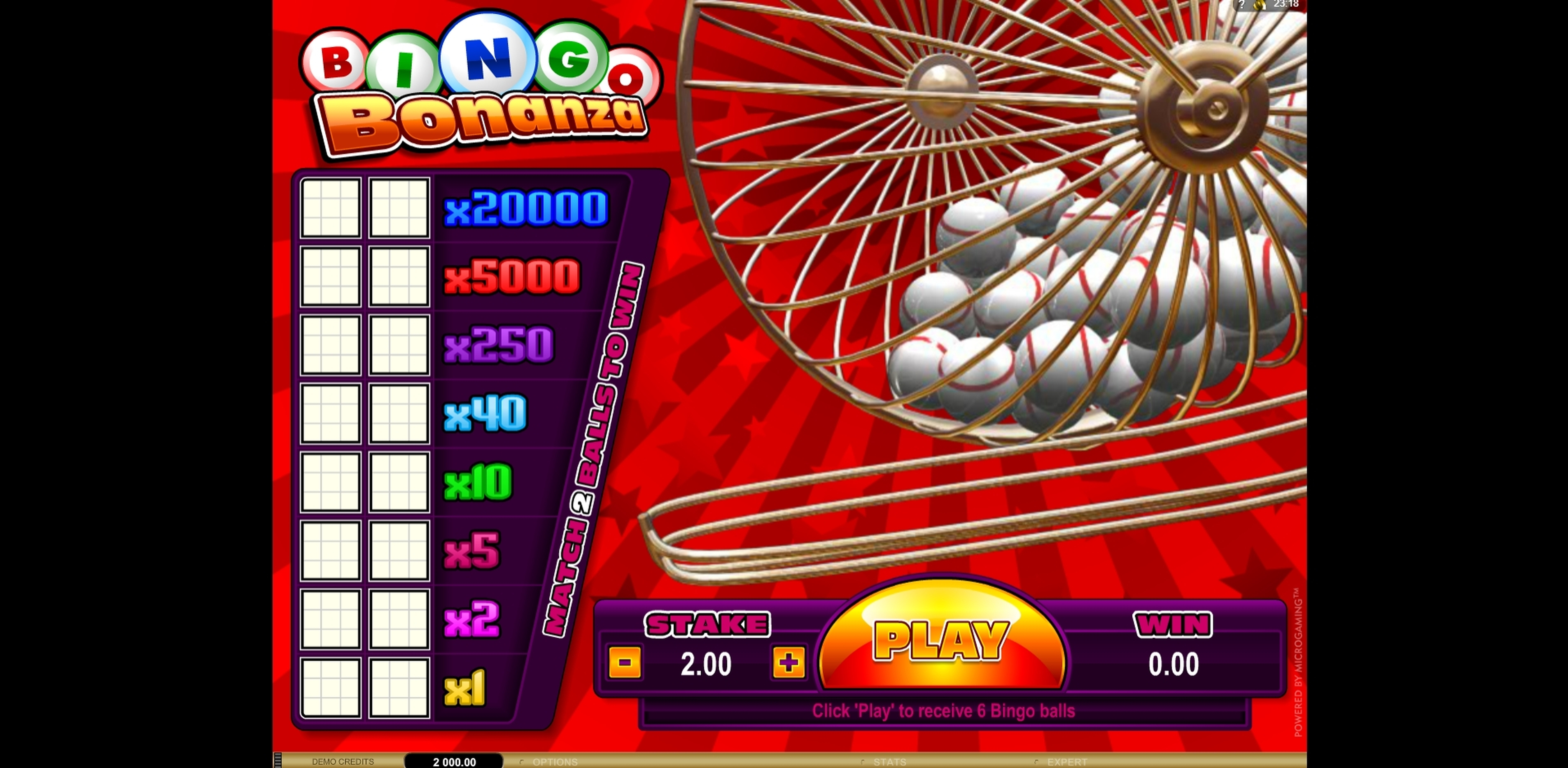 Reels in Bingo Bonanza Slot Game by Microgaming
