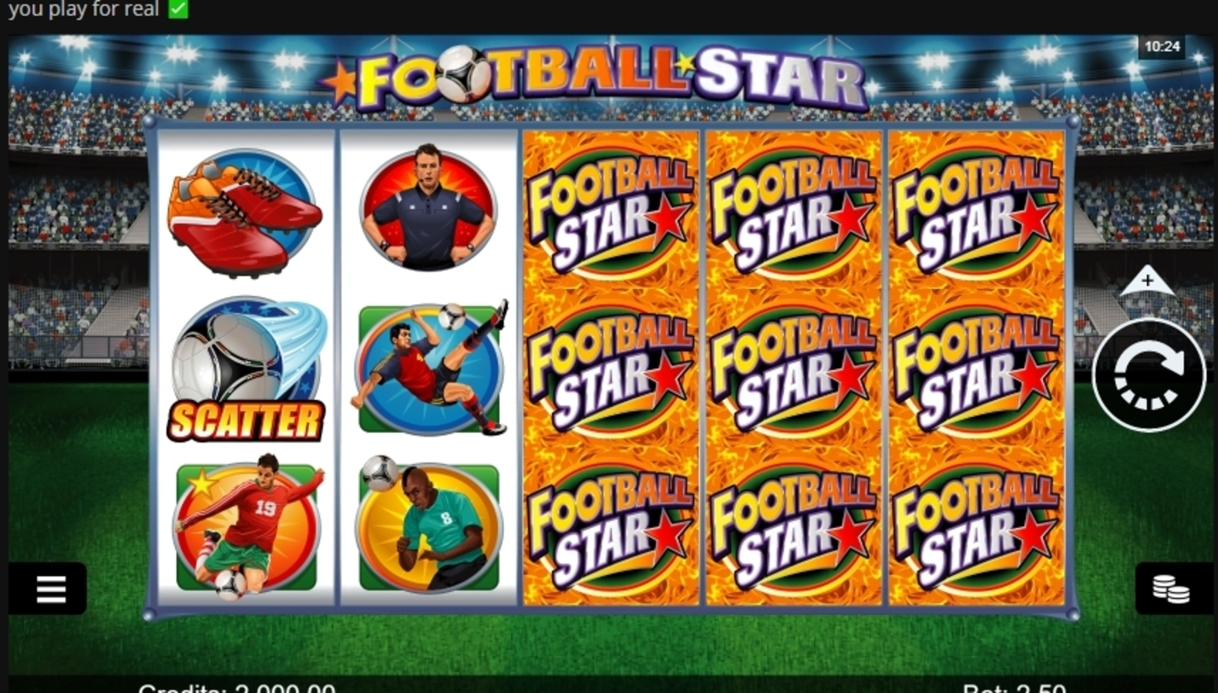 Reels in Football Star (Microgaming) Slot Game by Microgaming